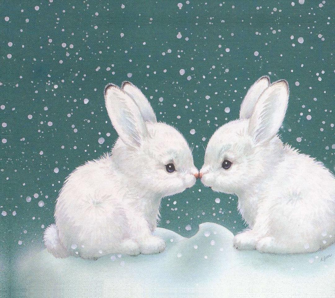Зимний зайчик картинки для детей