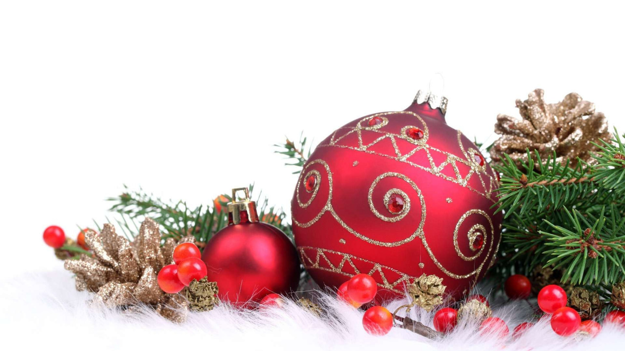 Новогодние украшения для поздравления