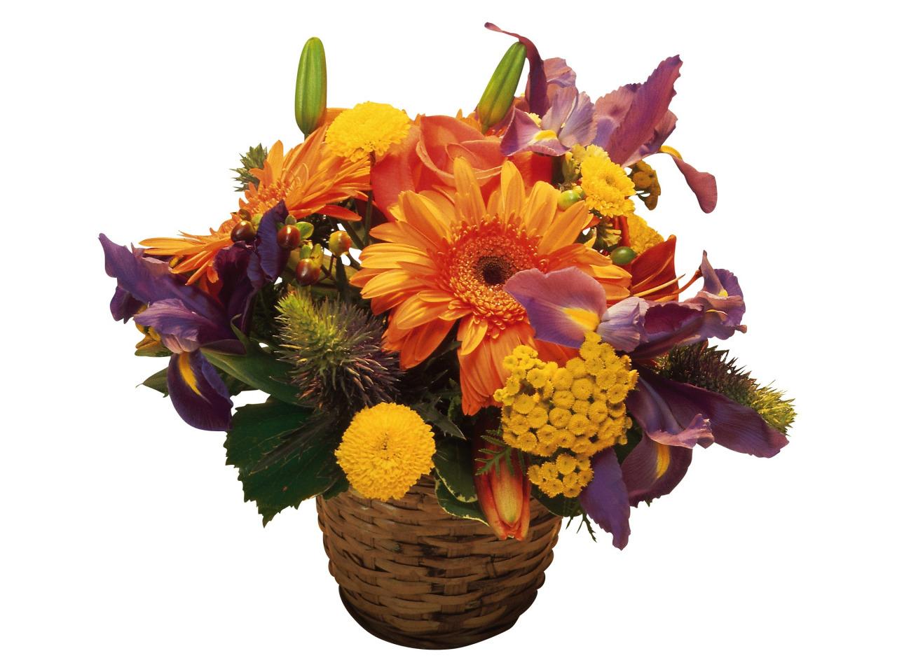 картинка букет осенних цветов или