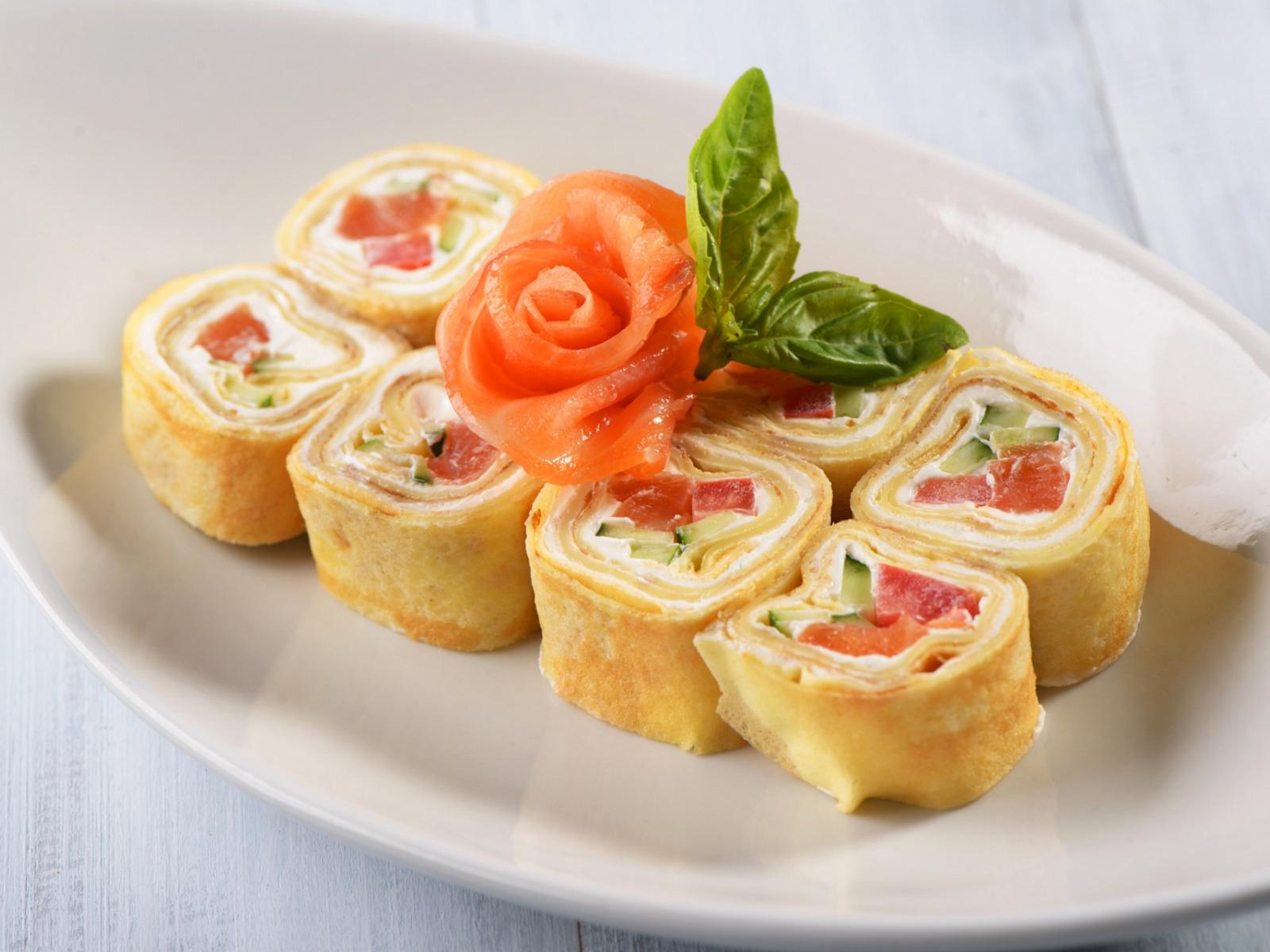 Тарталетки с семгой и сливочным сыром фото