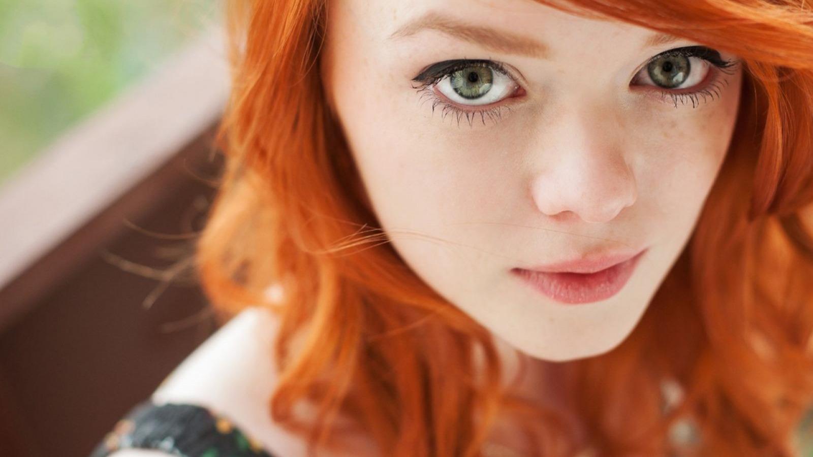 Лица рыжих девушек без макияжа