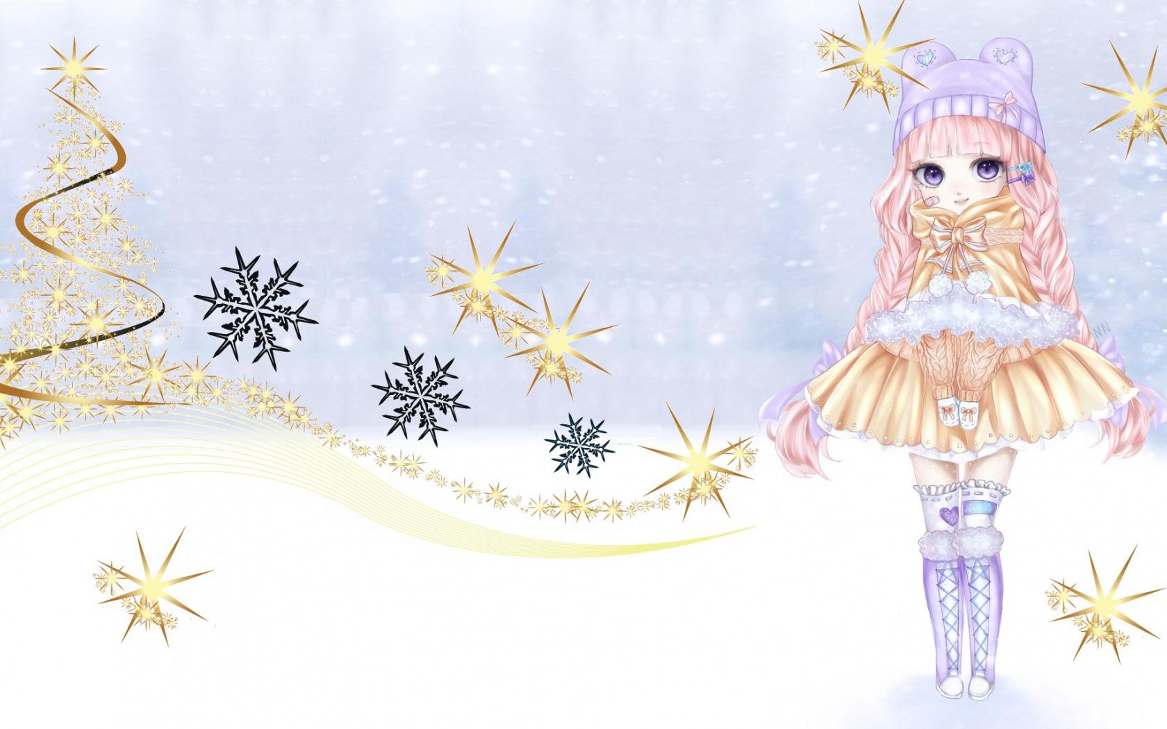 Открытки для, картинки девочки снежинки