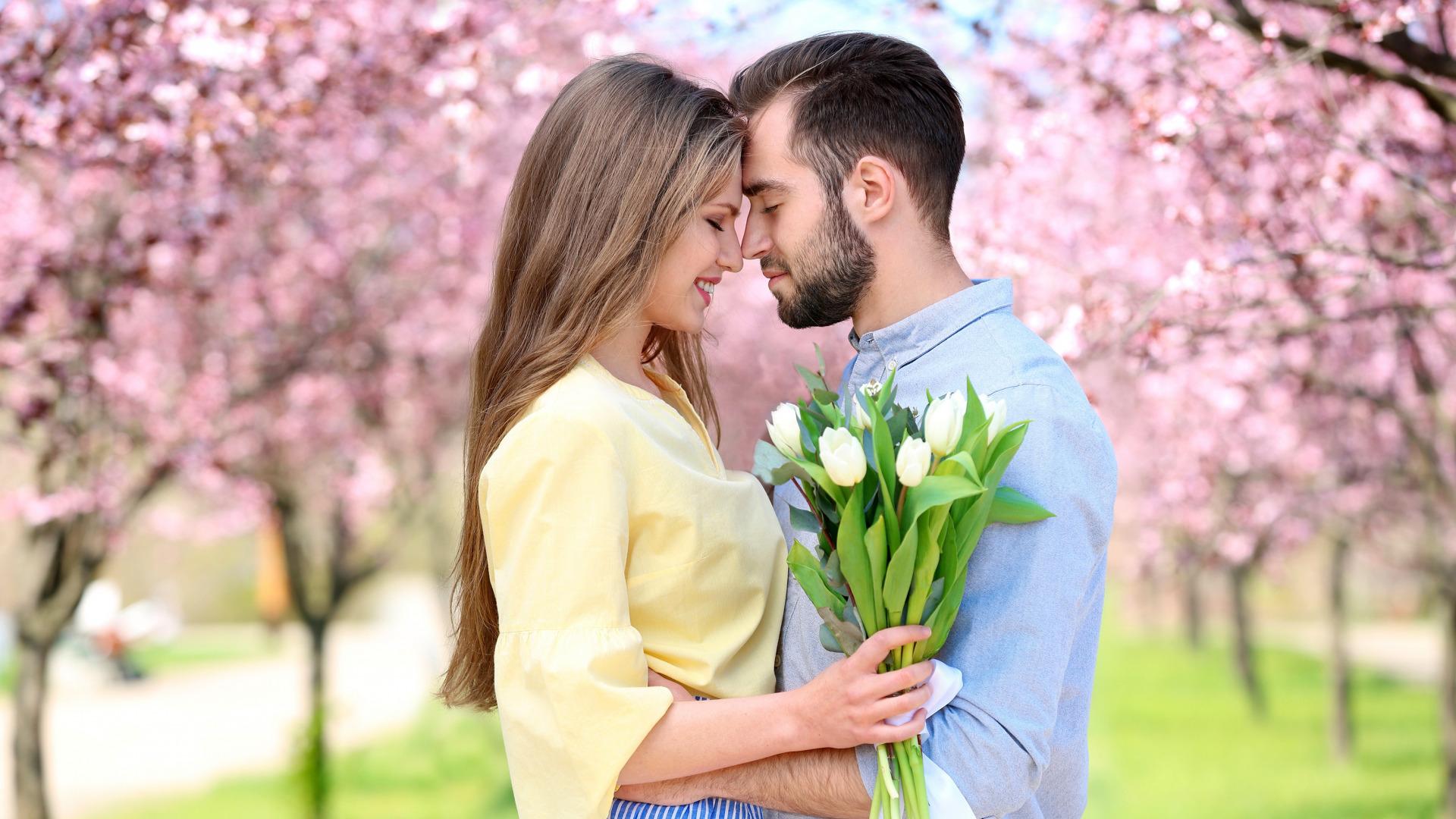 Обои Весна, цветение, влюбленные, цветы. Настроения foto 6