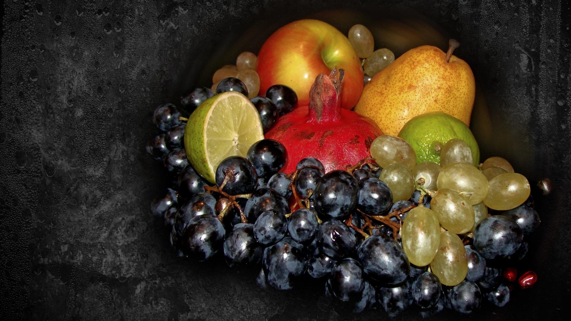 Фото натюрморт виноград груши