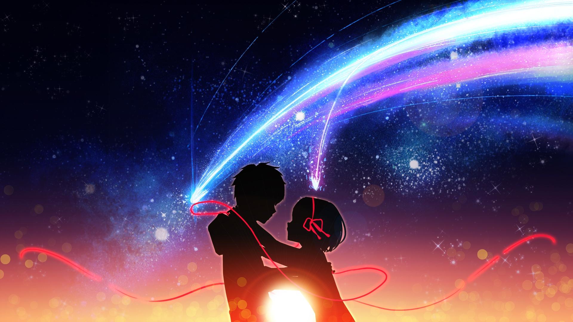 Обои на телефон любовь аниме