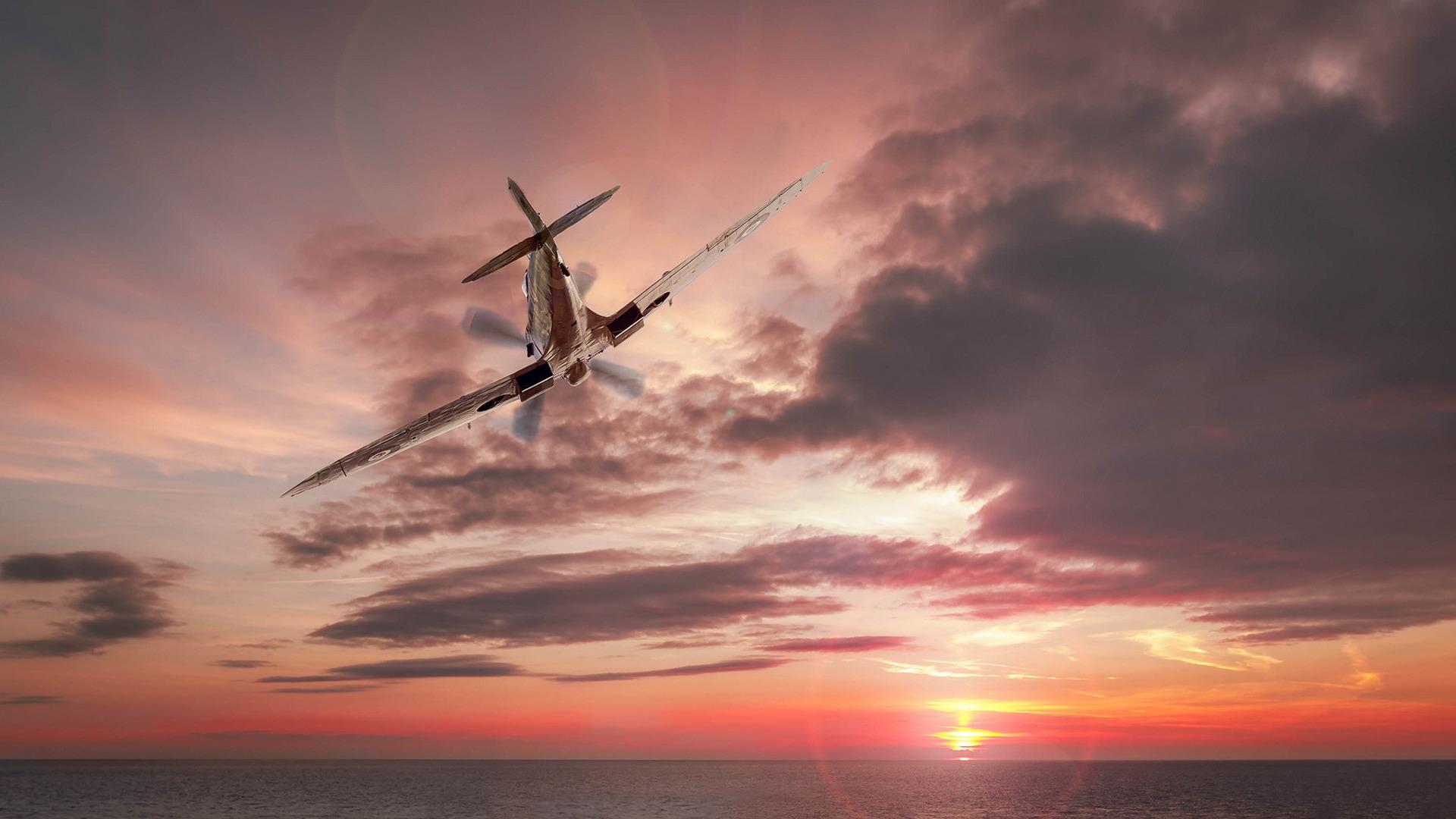 Картинки самолеты в небе над морем