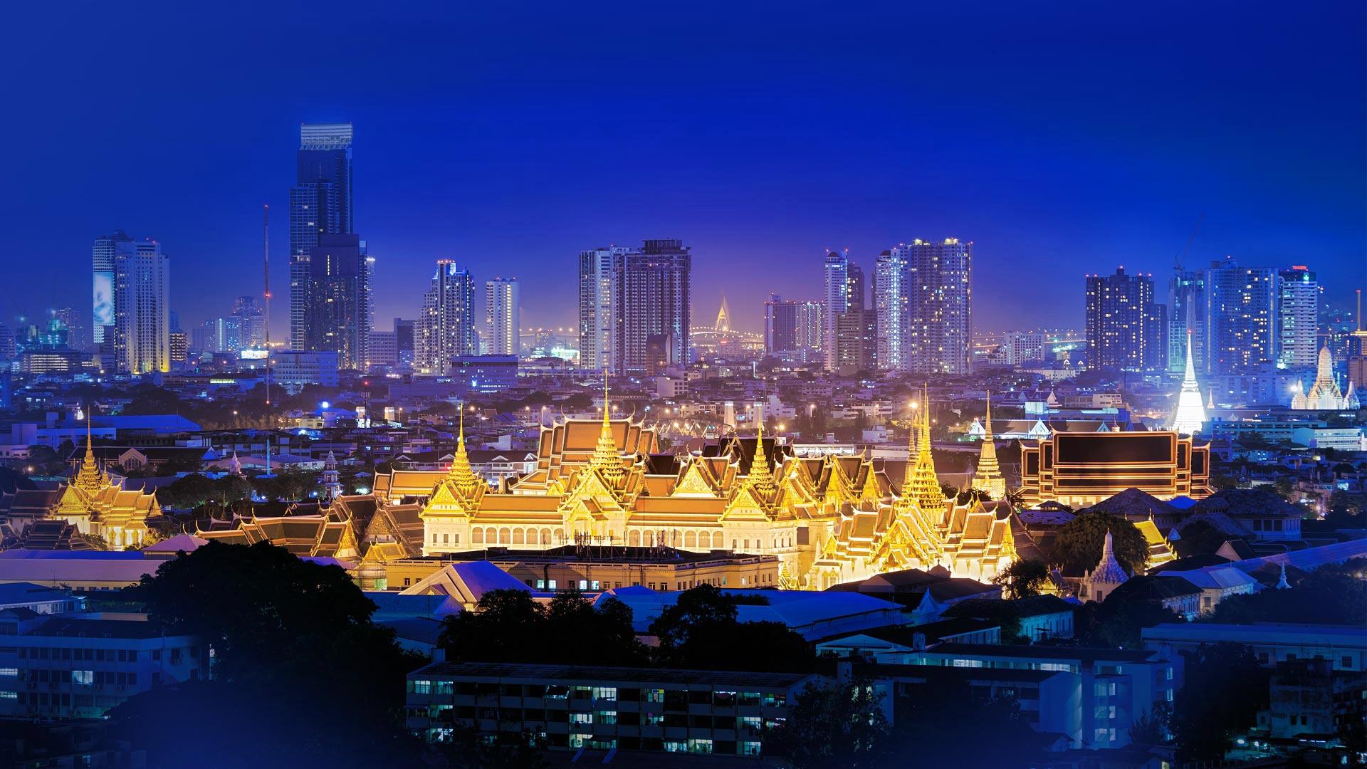 страны архитектура Бангкок Таиланд ночь  № 2195060 бесплатно