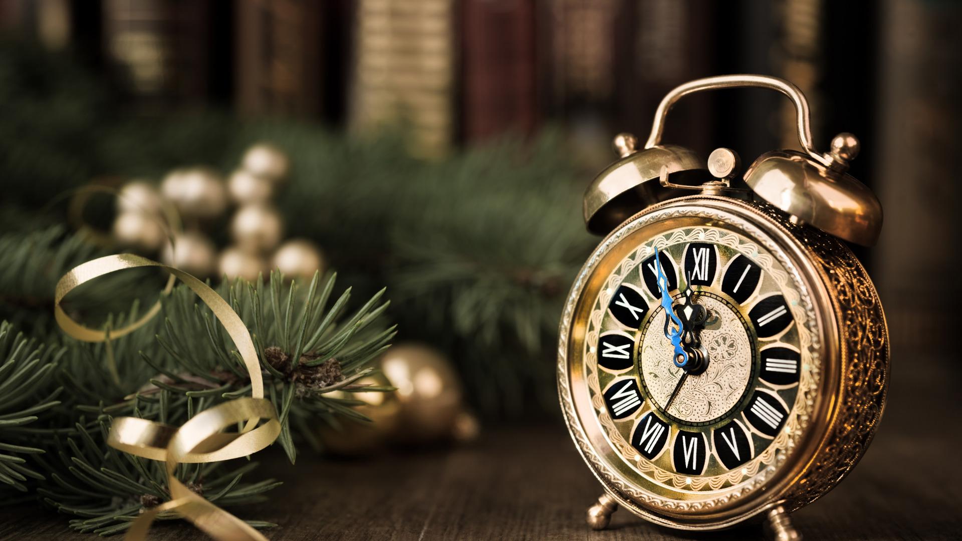 Красивые фото новогодних часов