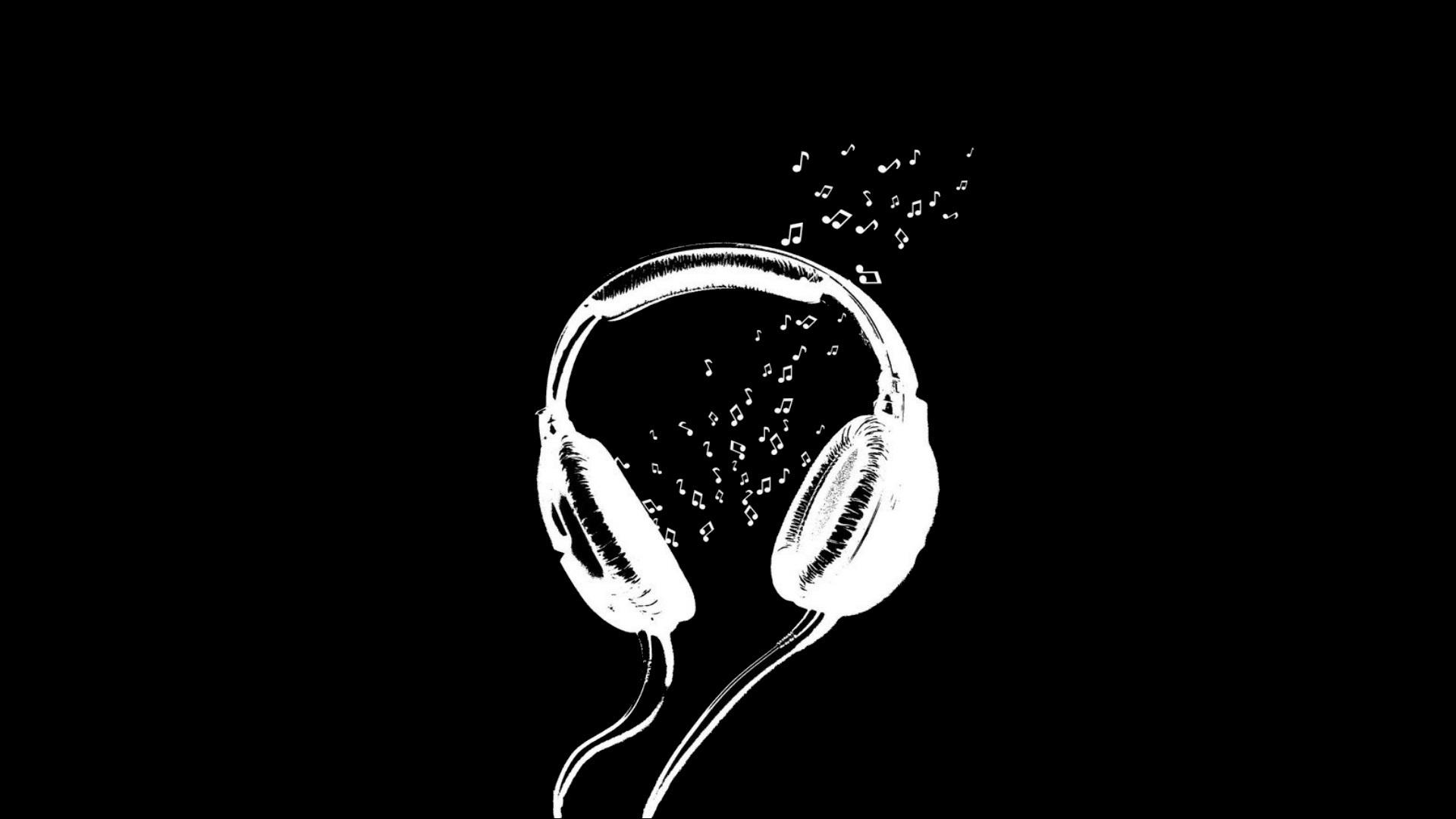 Музыка картинки черные