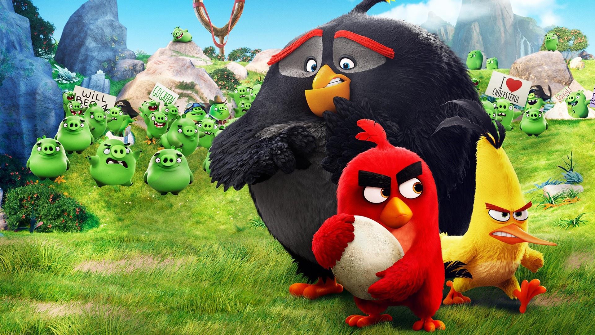 Большие картинки злых птичек