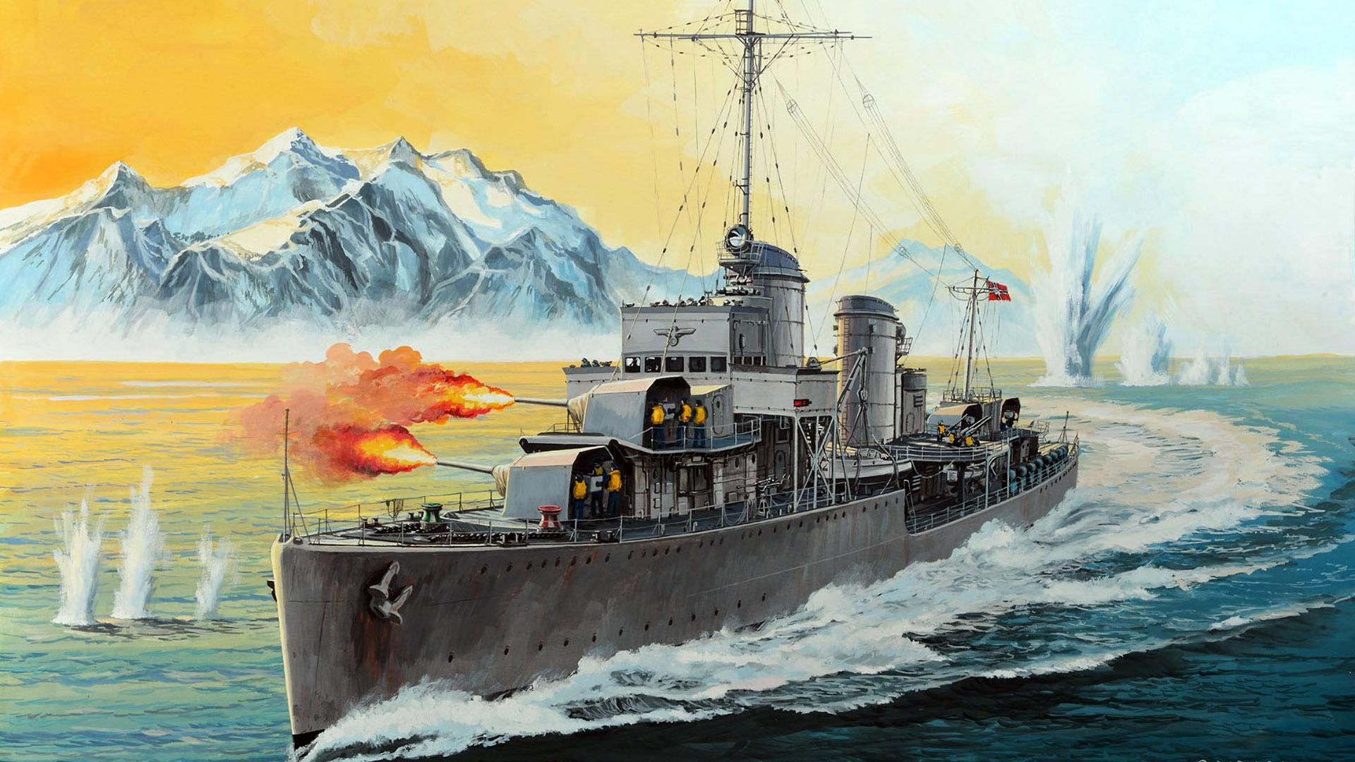 этом картинки немецкий корабль показываю