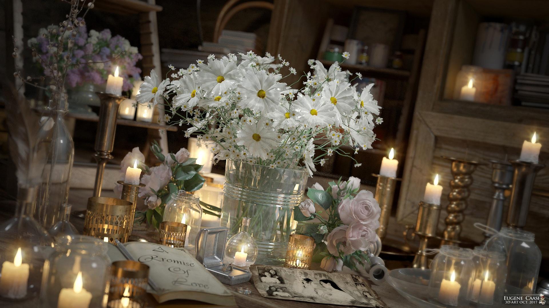 картинки со свечами с цветами киноман стажем