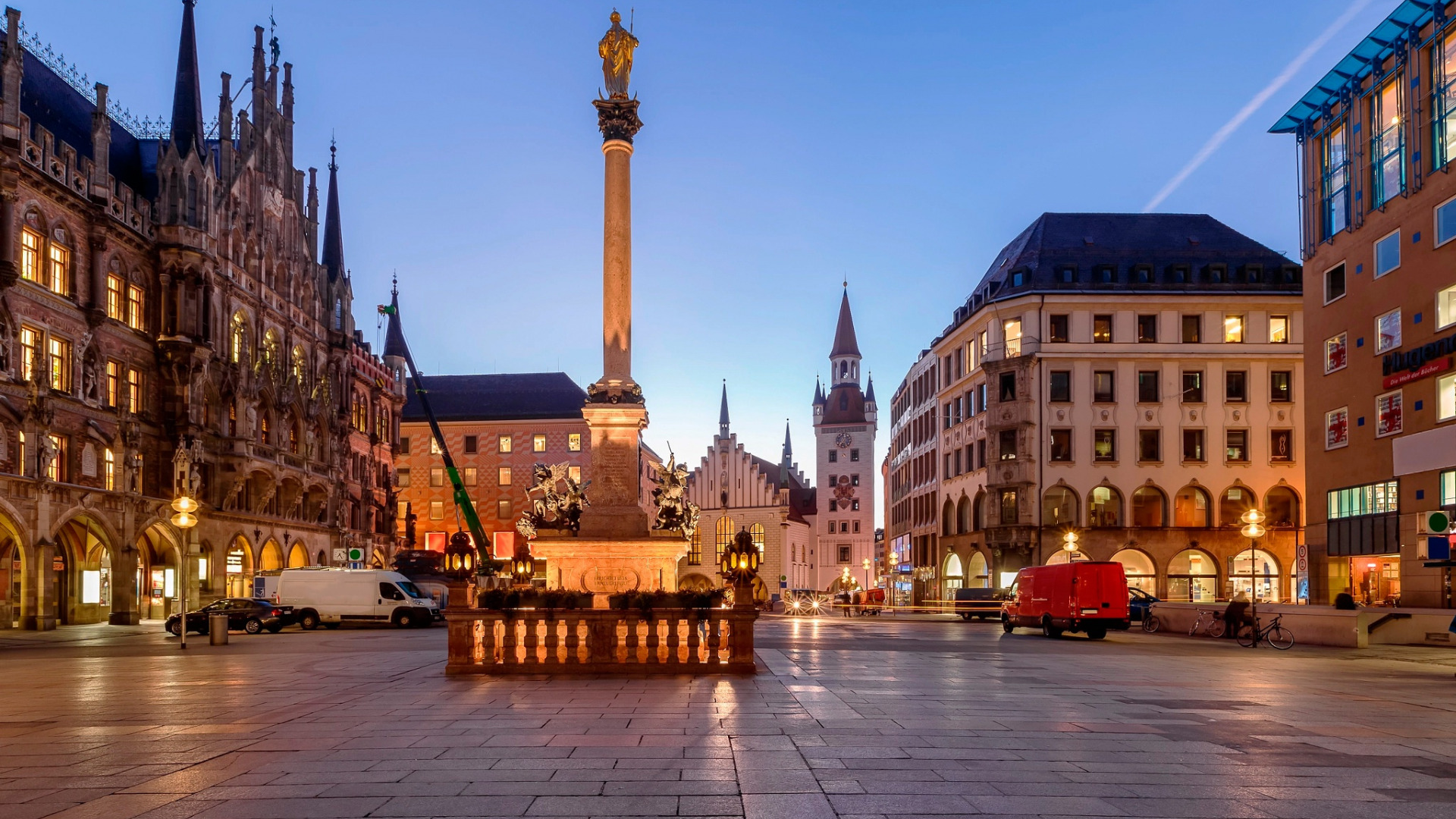 мюнхен площадь мариенплац фото так давно