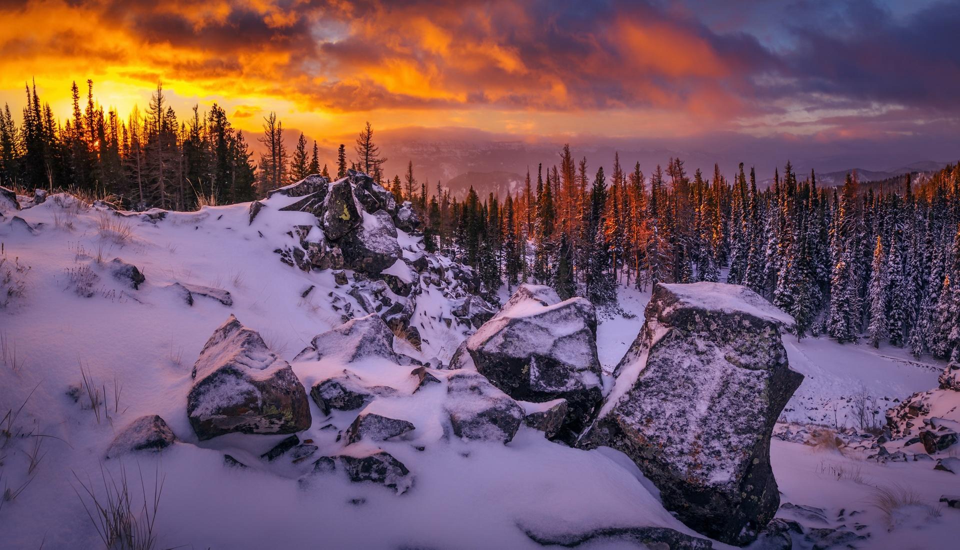 горы камни снег зима  № 2512945 без смс