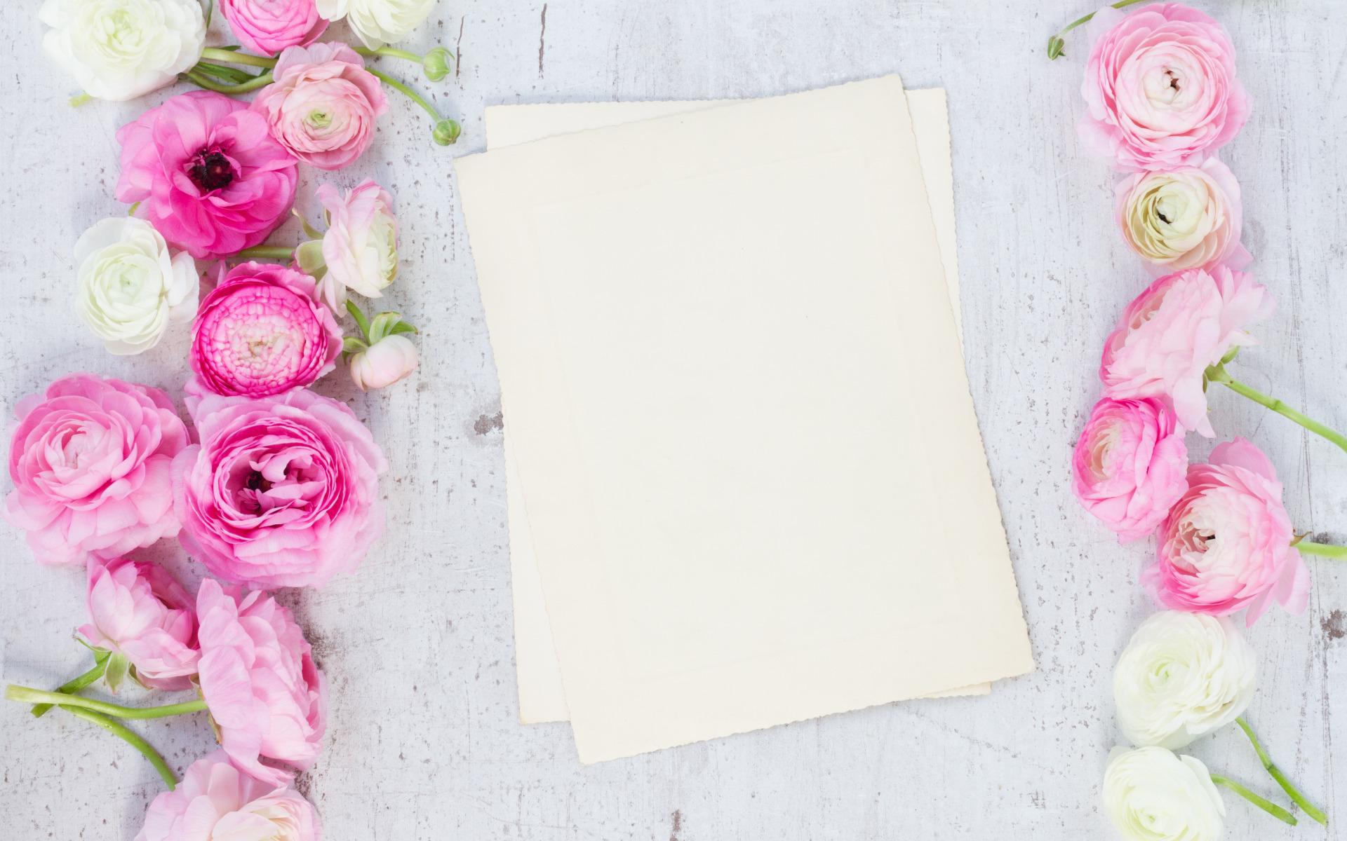 неприхотливое, белый лист с цветами картинки слову