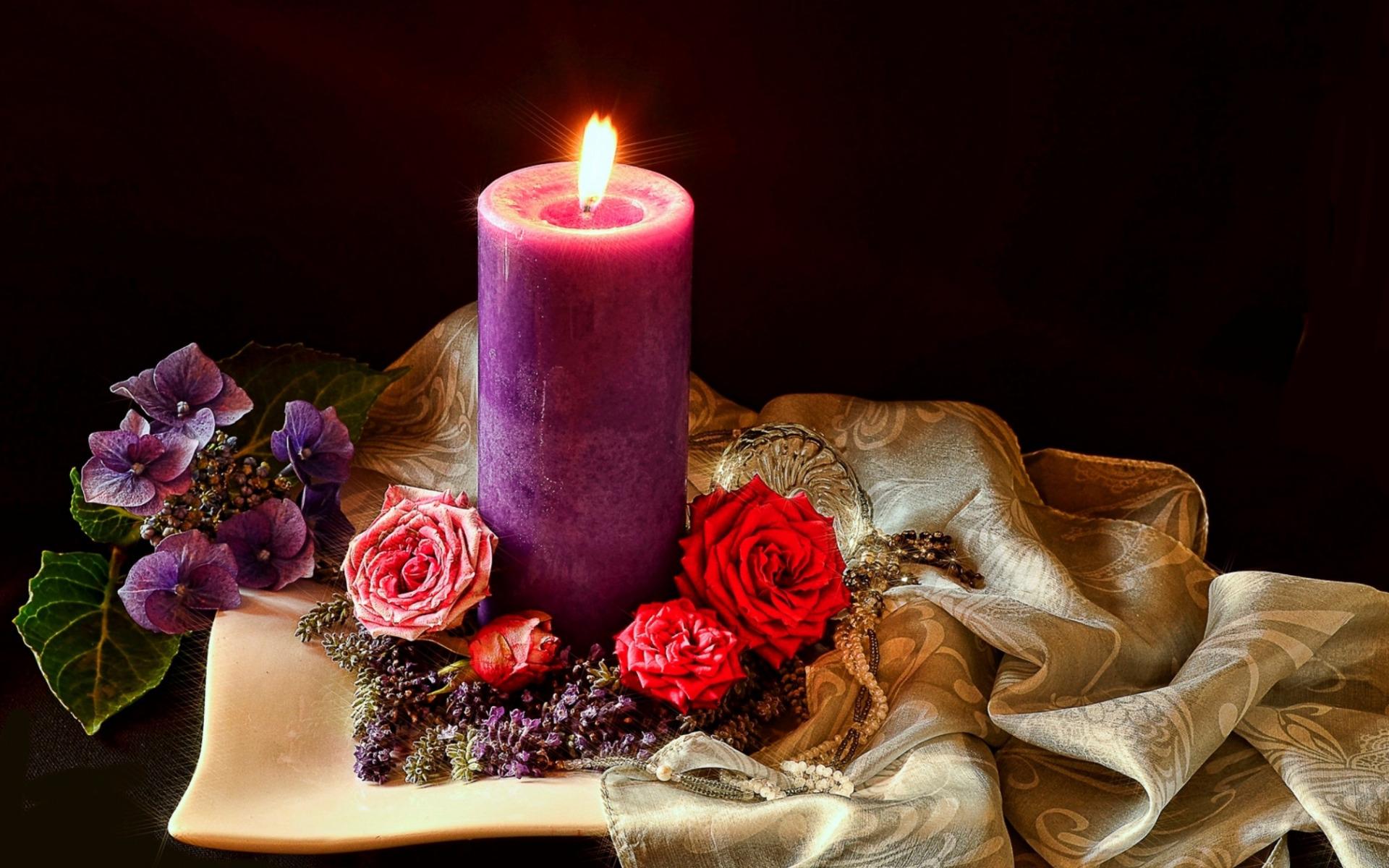картинки со свечами с цветами расписаться