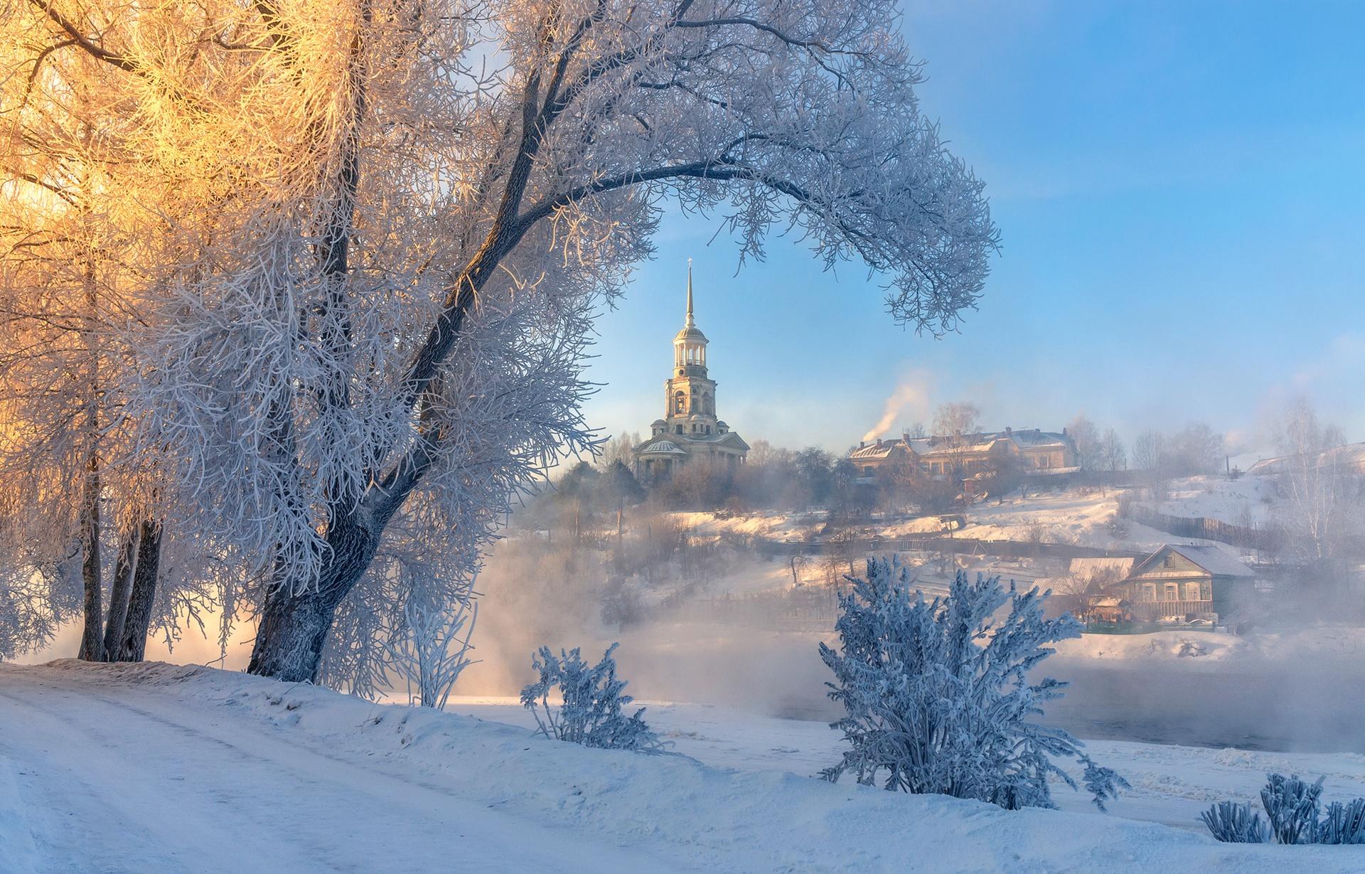 выполняем заказы морозное утро в городе фото инк или просвет-туда