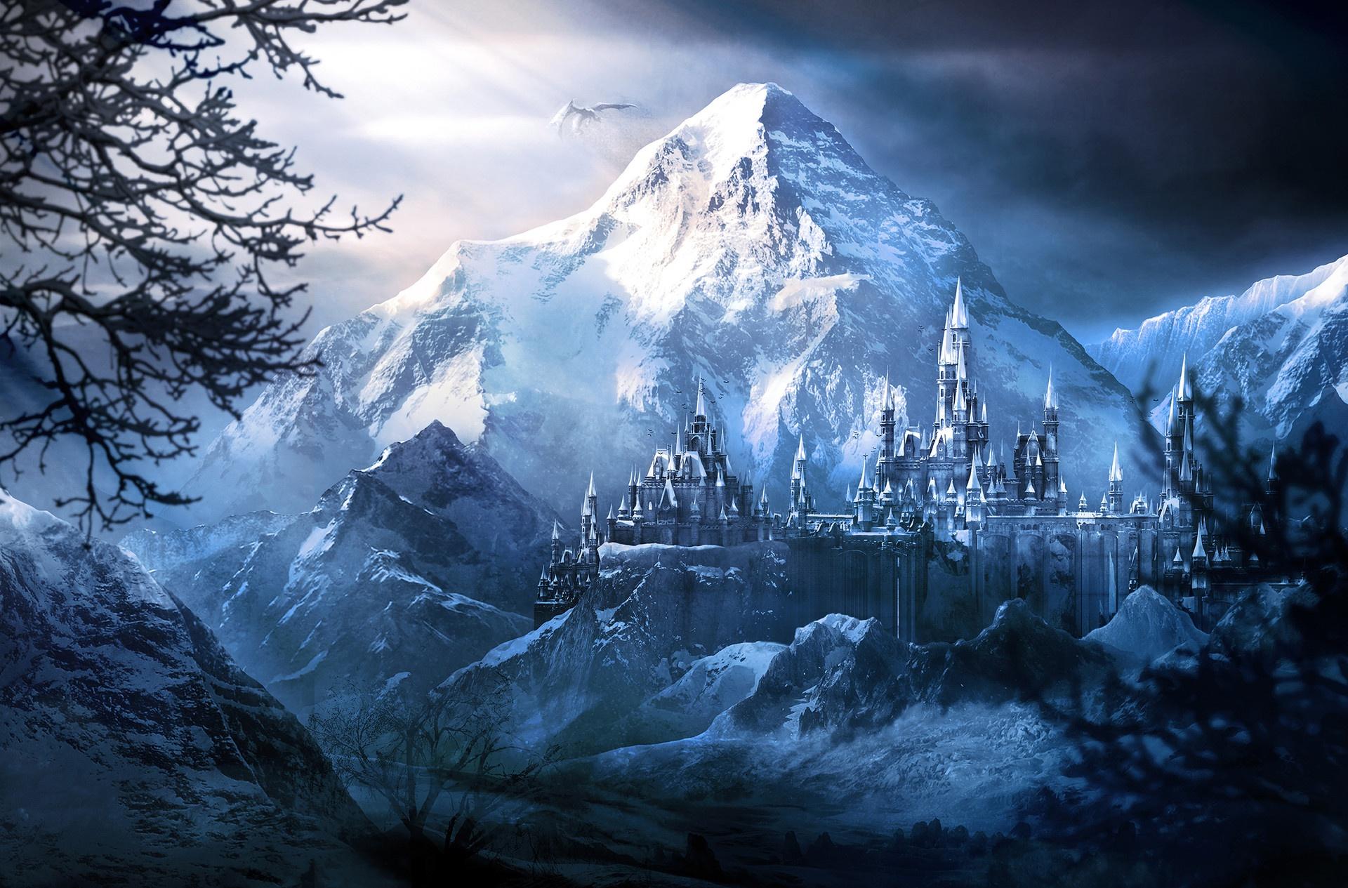 картинки зима фантастика тон