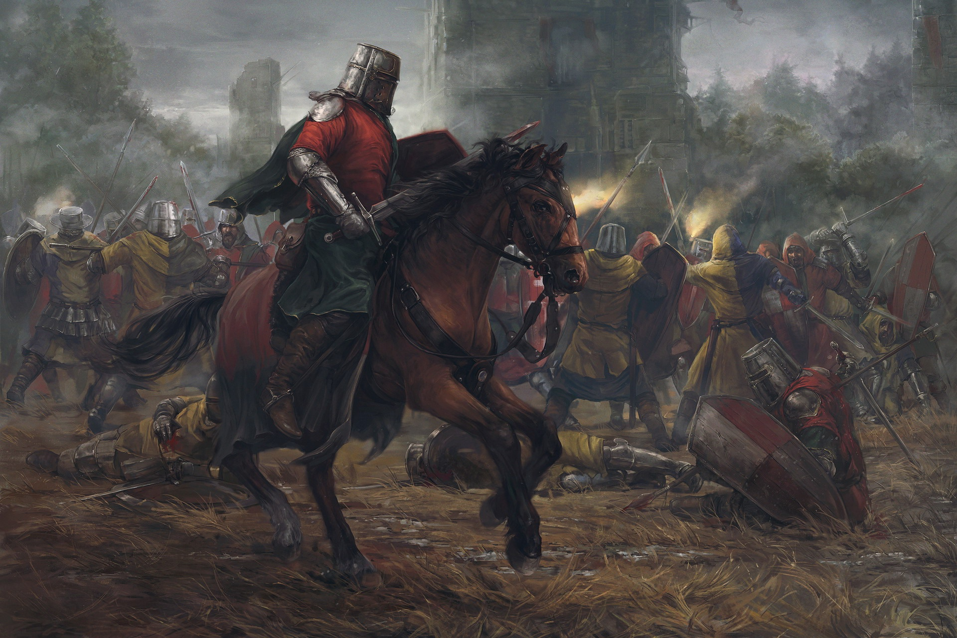 Битва рыцарей картинка