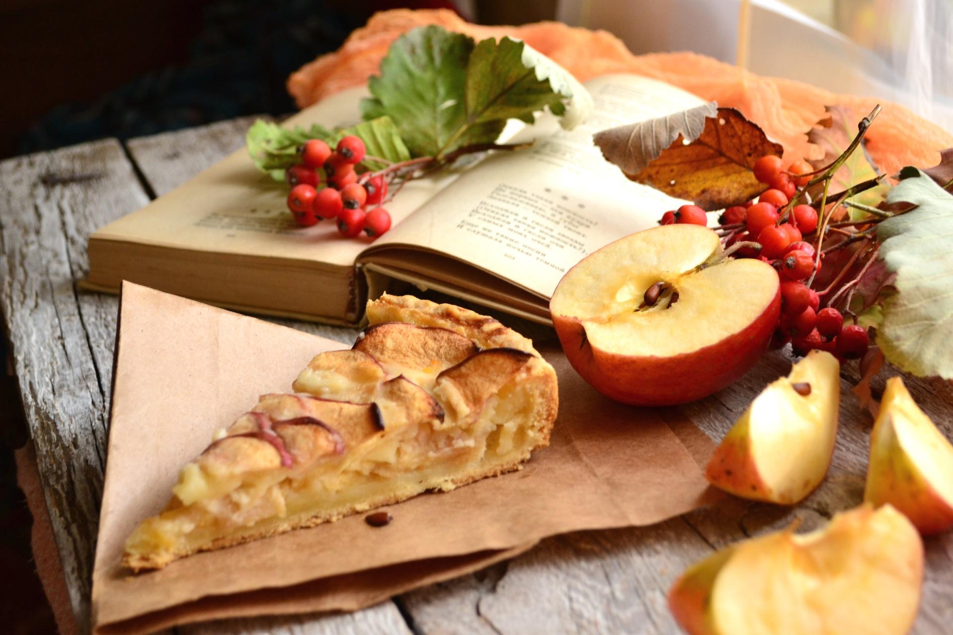 Яблочный пирог обои на рабочий стол