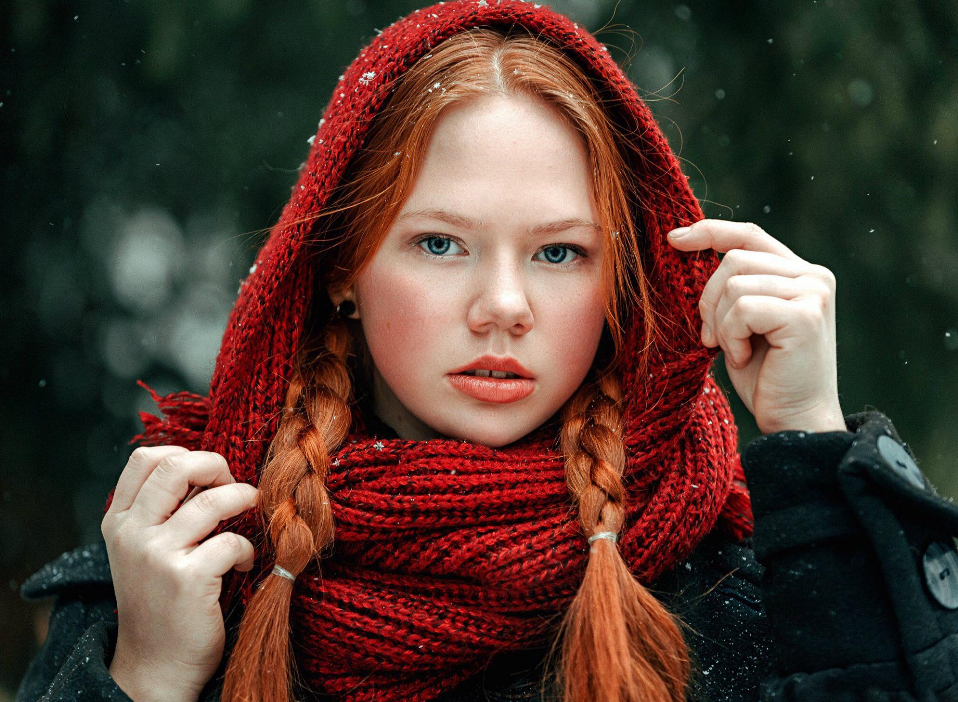 Прикольные, картинки рыжая девочка с косичками