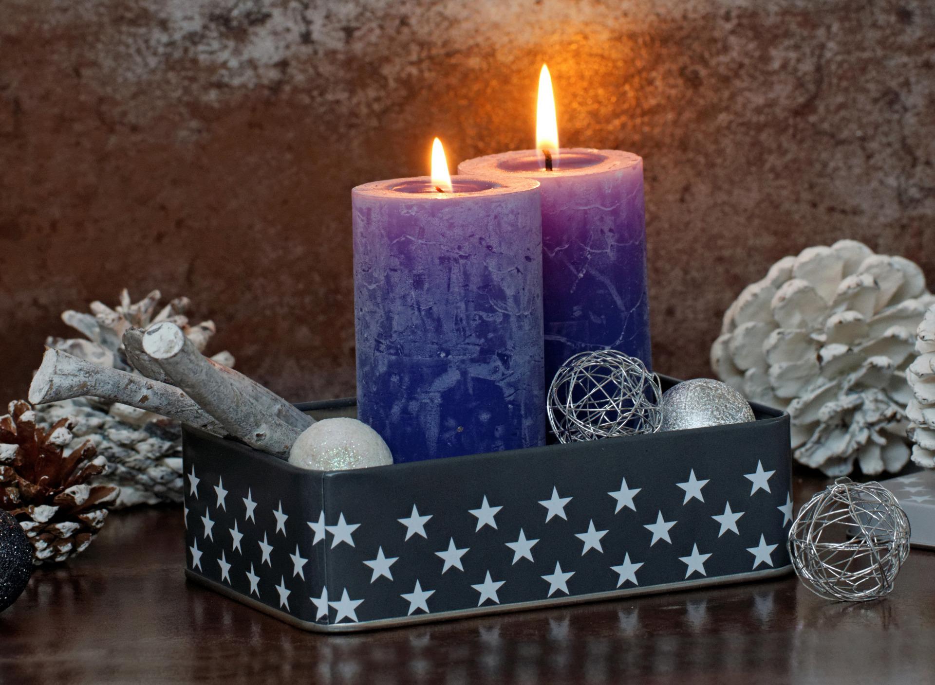 Картинки красивых новогодних свечей