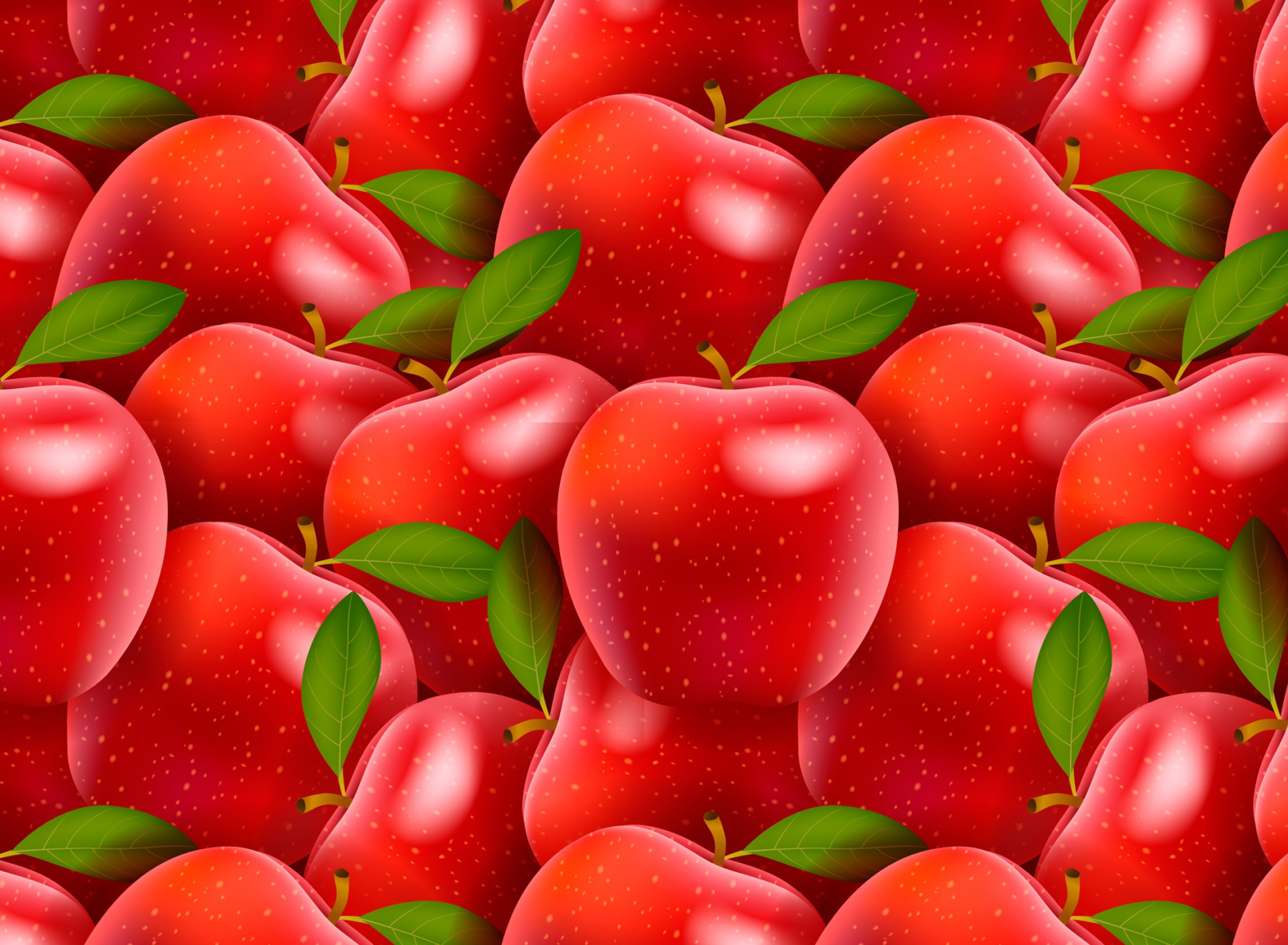 Картинка где фон яблоки