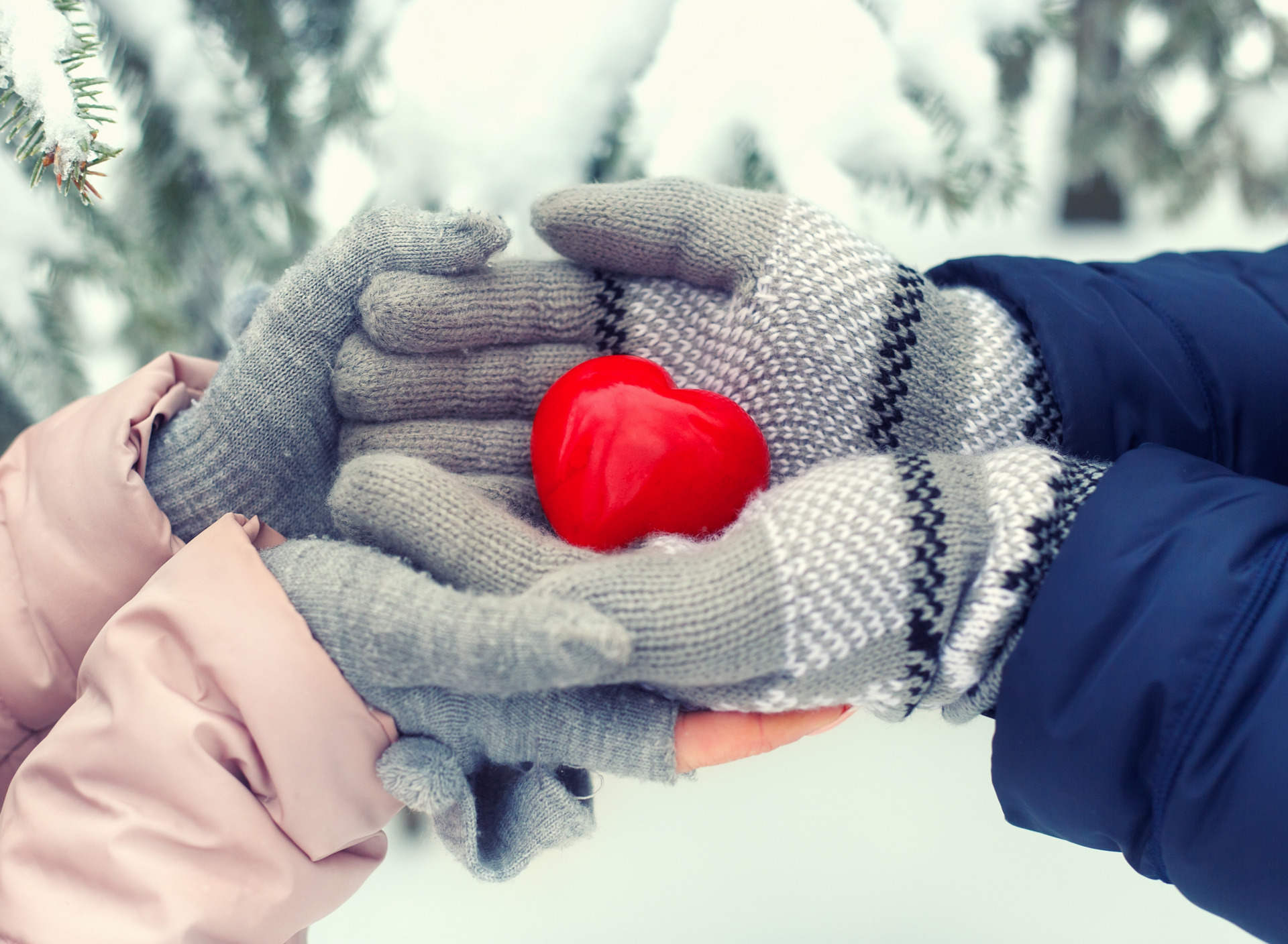 зима в сердце фото город