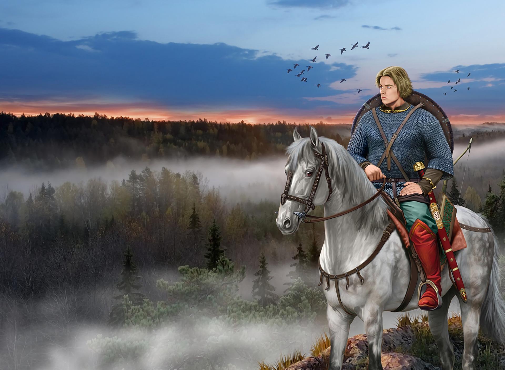 картинки древних воинов верхом на коне