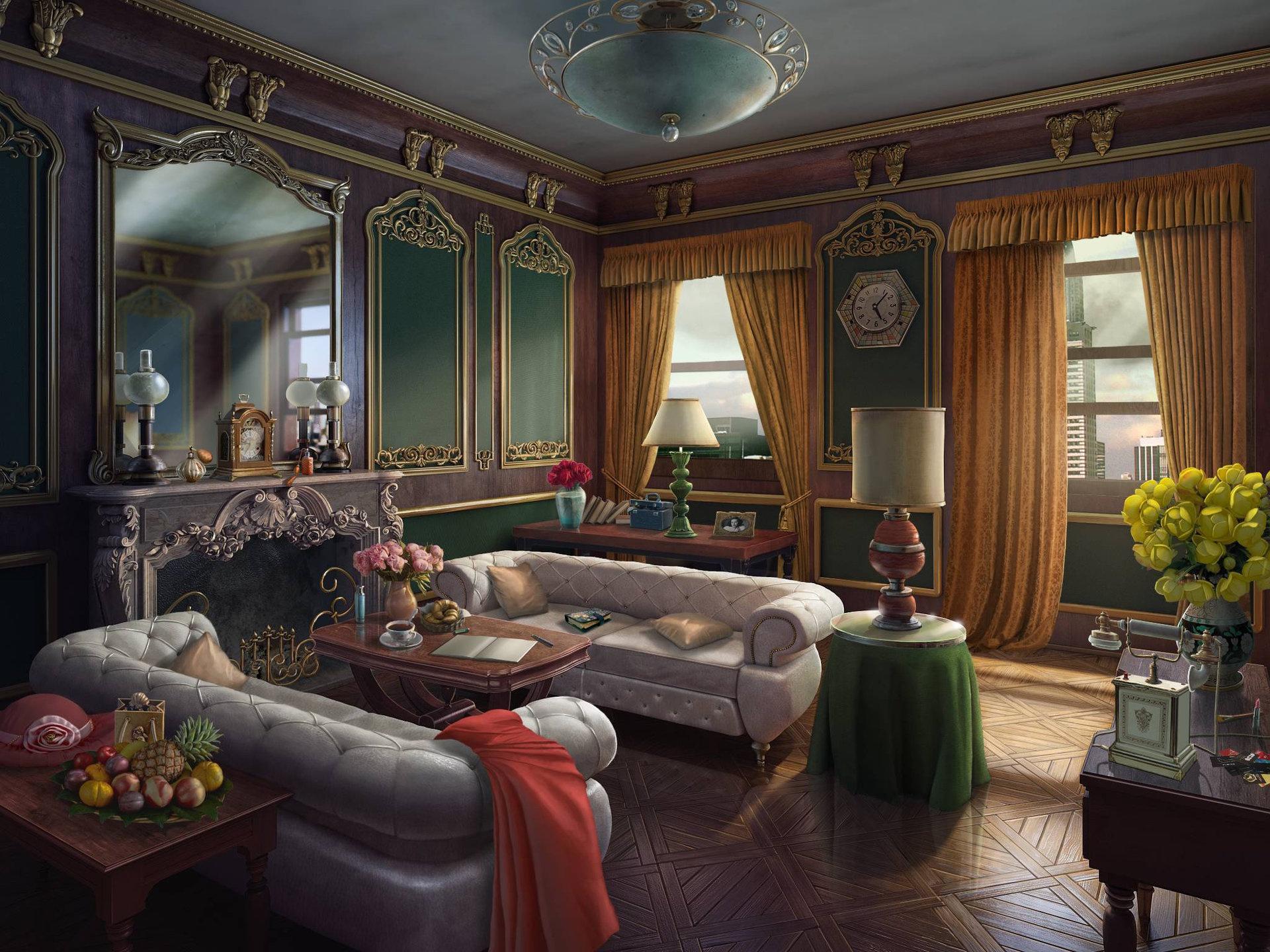Картинки комнат из игр