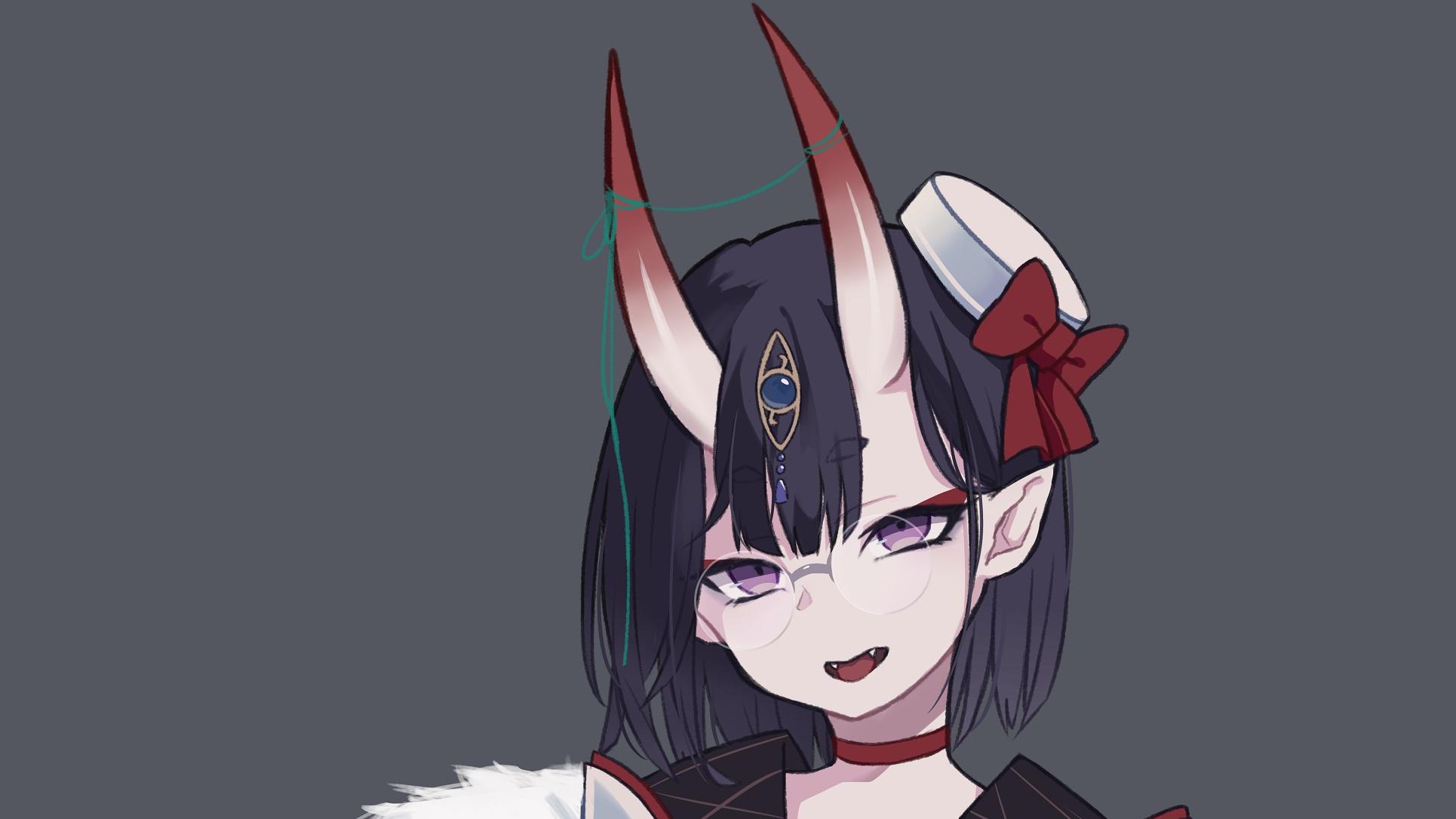 Картинки девушка аниме с рогами