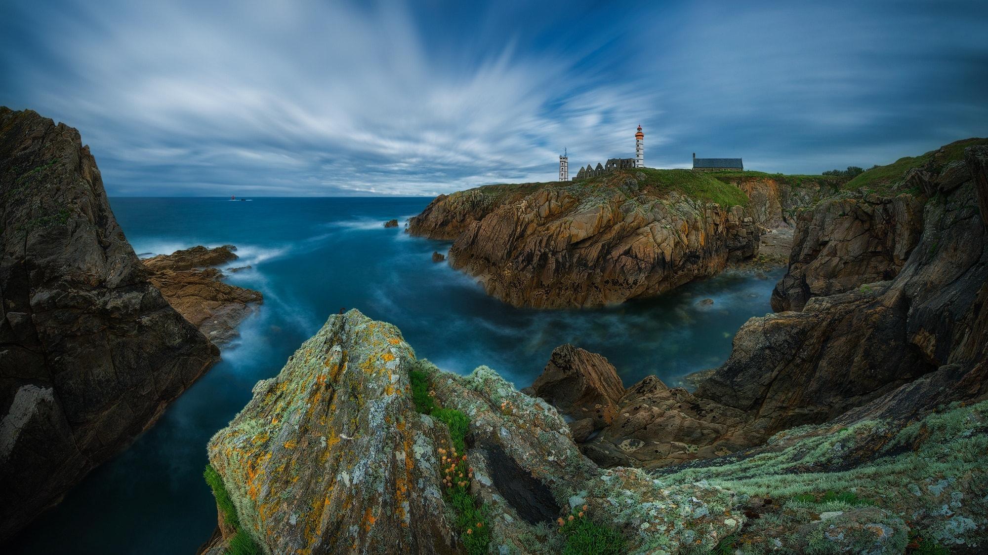природа маяк море скалы  № 2238419 загрузить