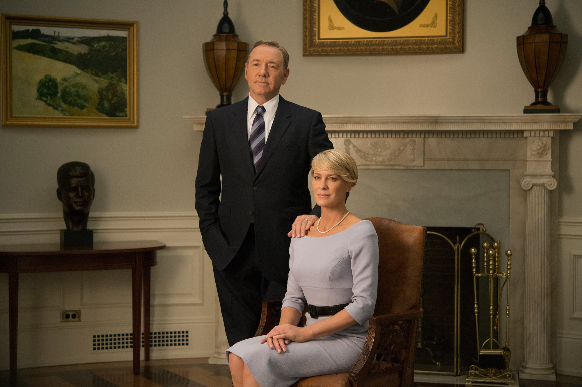 Shes the first female president and her enemies have multiplied But Claire Underwood wont be undermined and she will not back down House of Cards