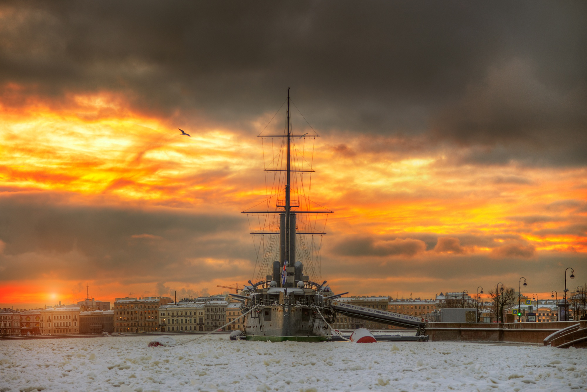 Санкт-Петербург корабль закат  № 3945008  скачать