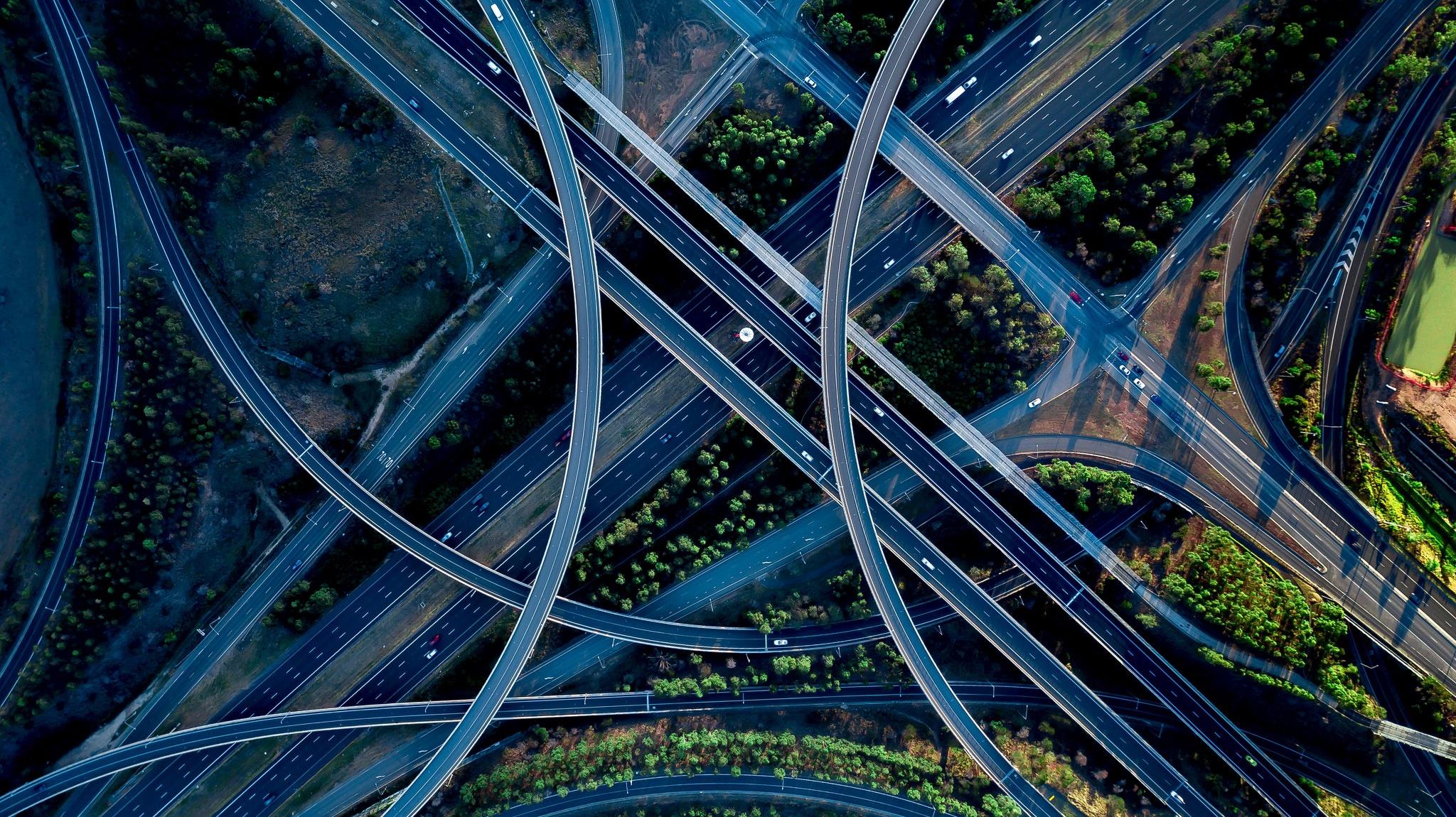 Картинка перекресток на шоссе