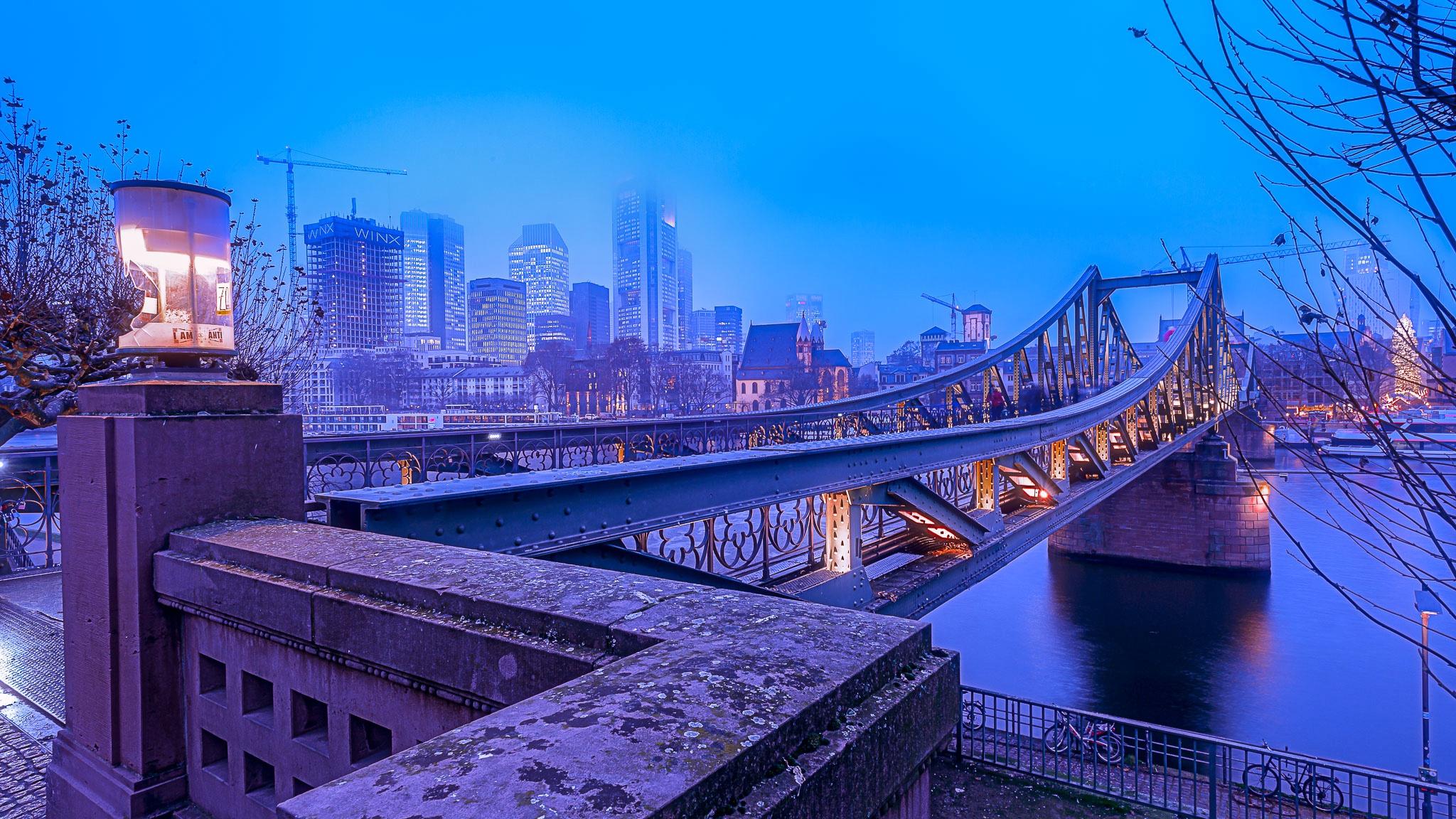 Мост река сумерки  № 3030681  скачать