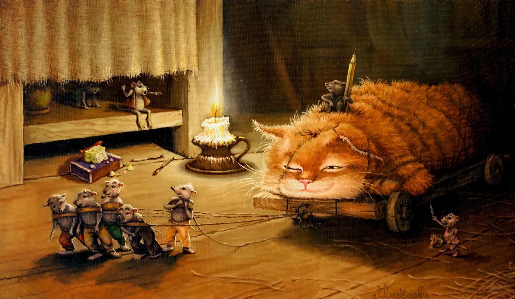 картинки для декупажа кот и мыши состав