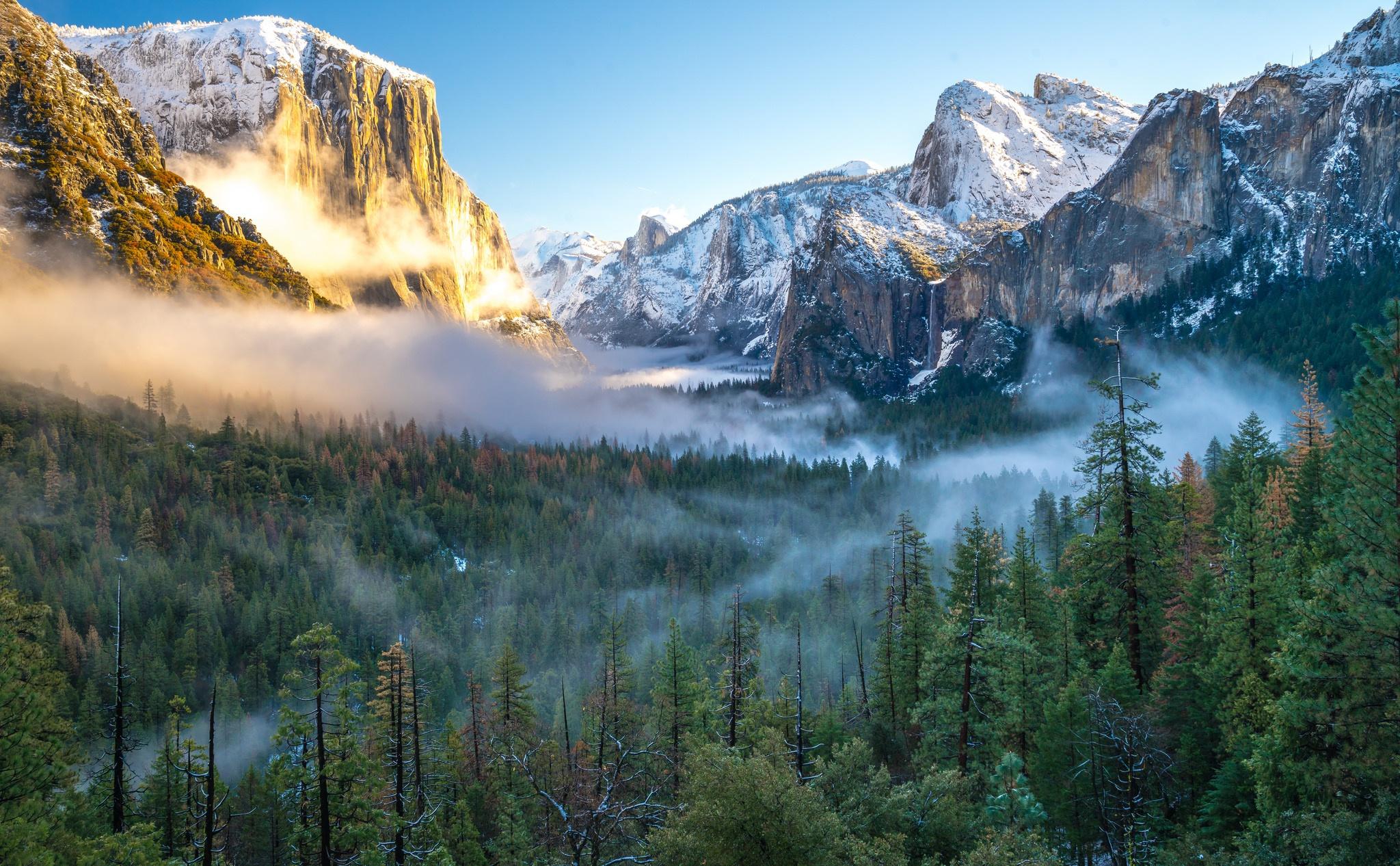 снег горы туман snow mountains fog  № 1146759  скачать
