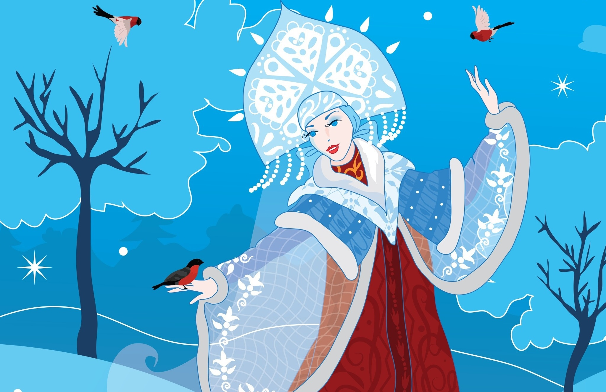 Картинки снегурочки прикольные для срисовки, папе день рождения