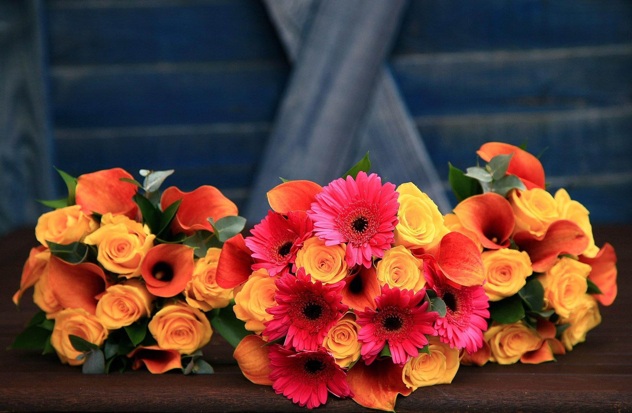 Оранжевые цветы для букетов, лепестков роз