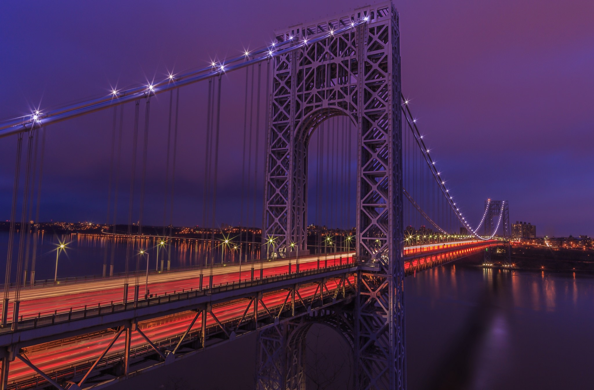 Картинка ночной мост