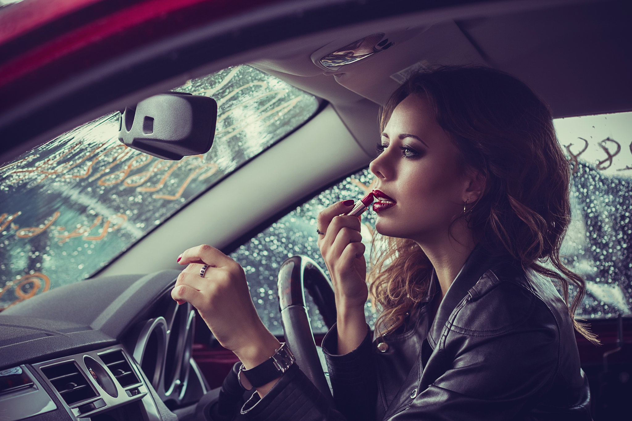 фото в машине девушки - 14