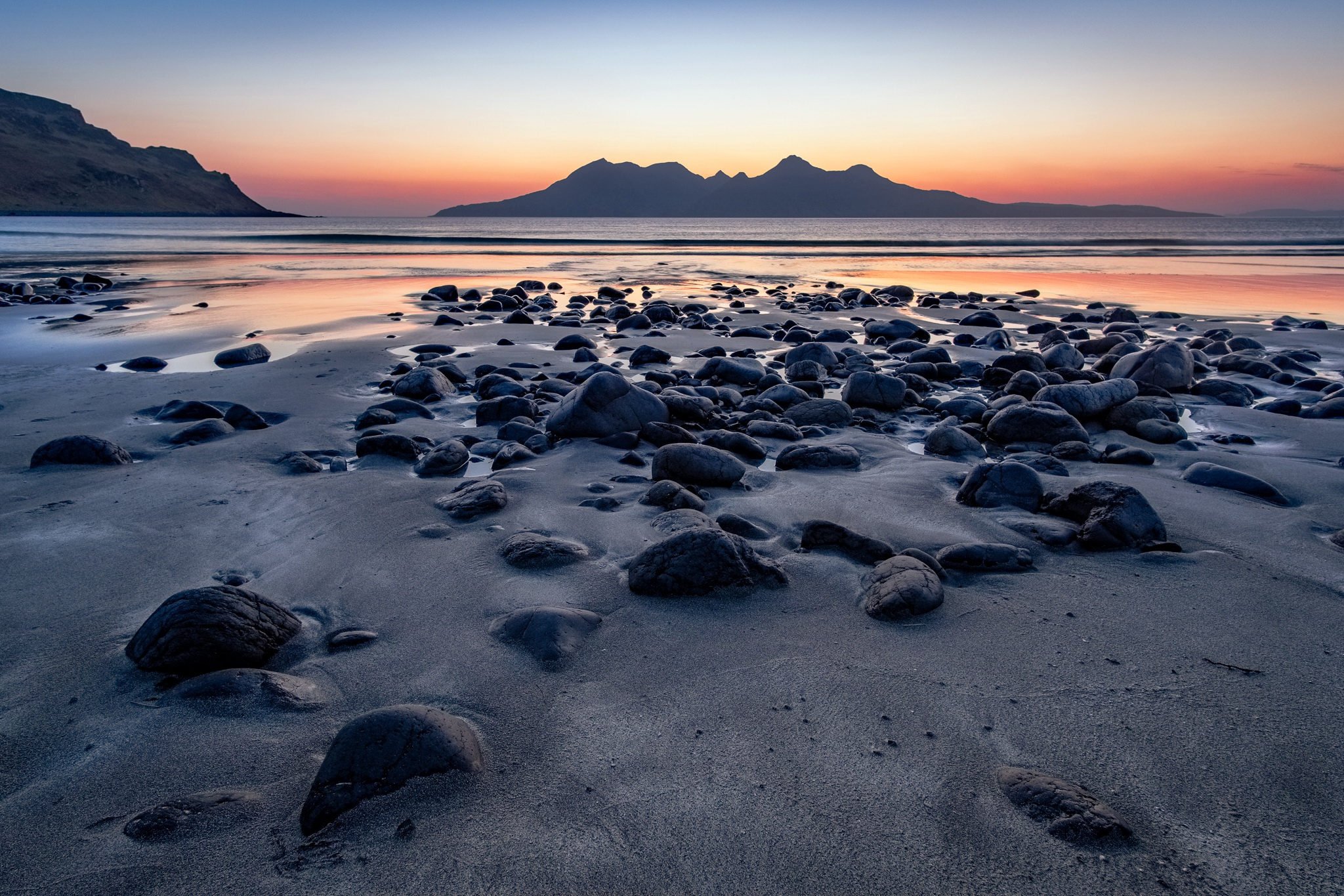 закат камень берег море sunset stone shore sea  № 1023665  скачать