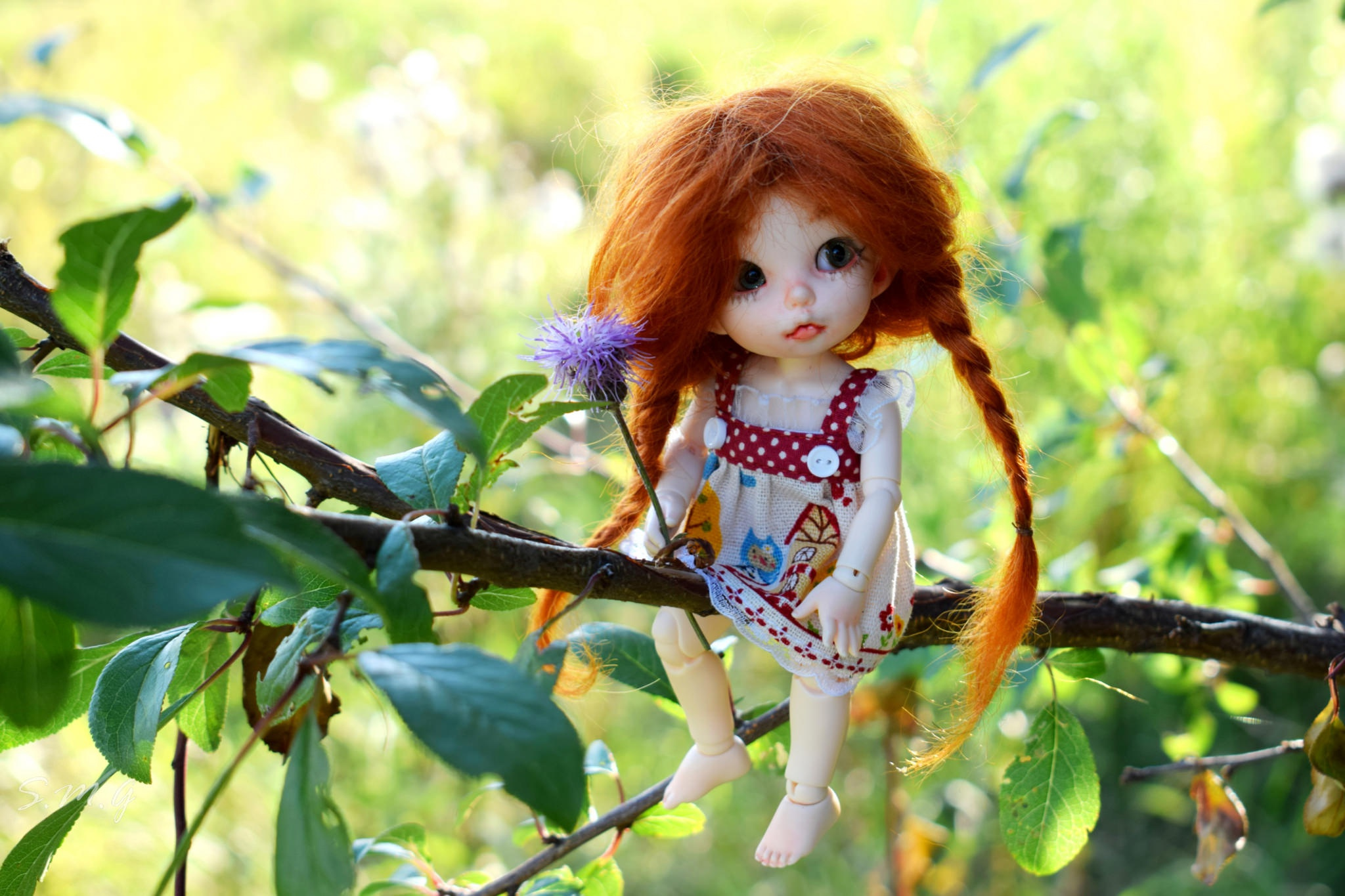 Картинки аниме, картинки рыжая девочка с косичками