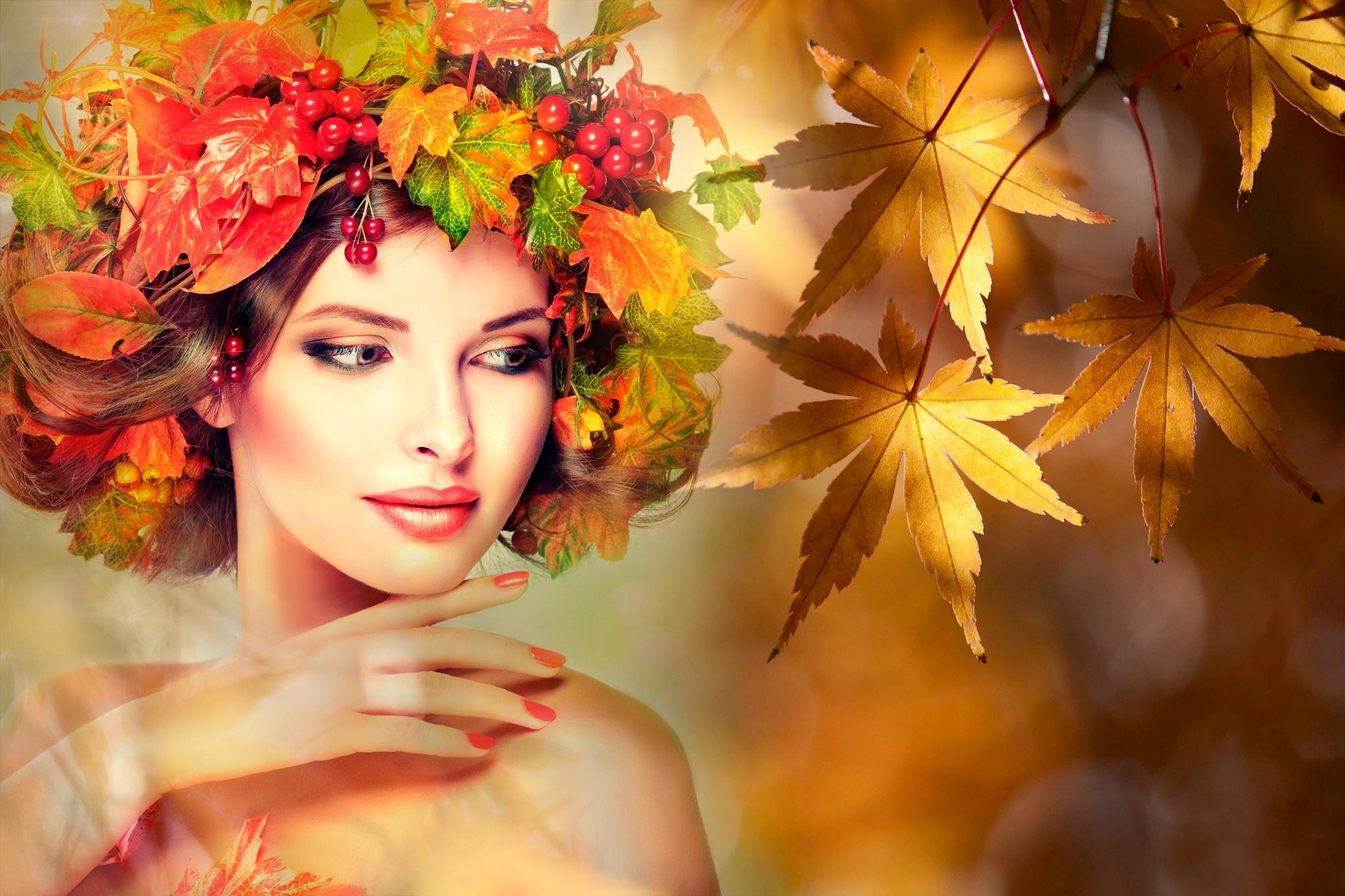 Поздравления, женщина осень картинки красивые