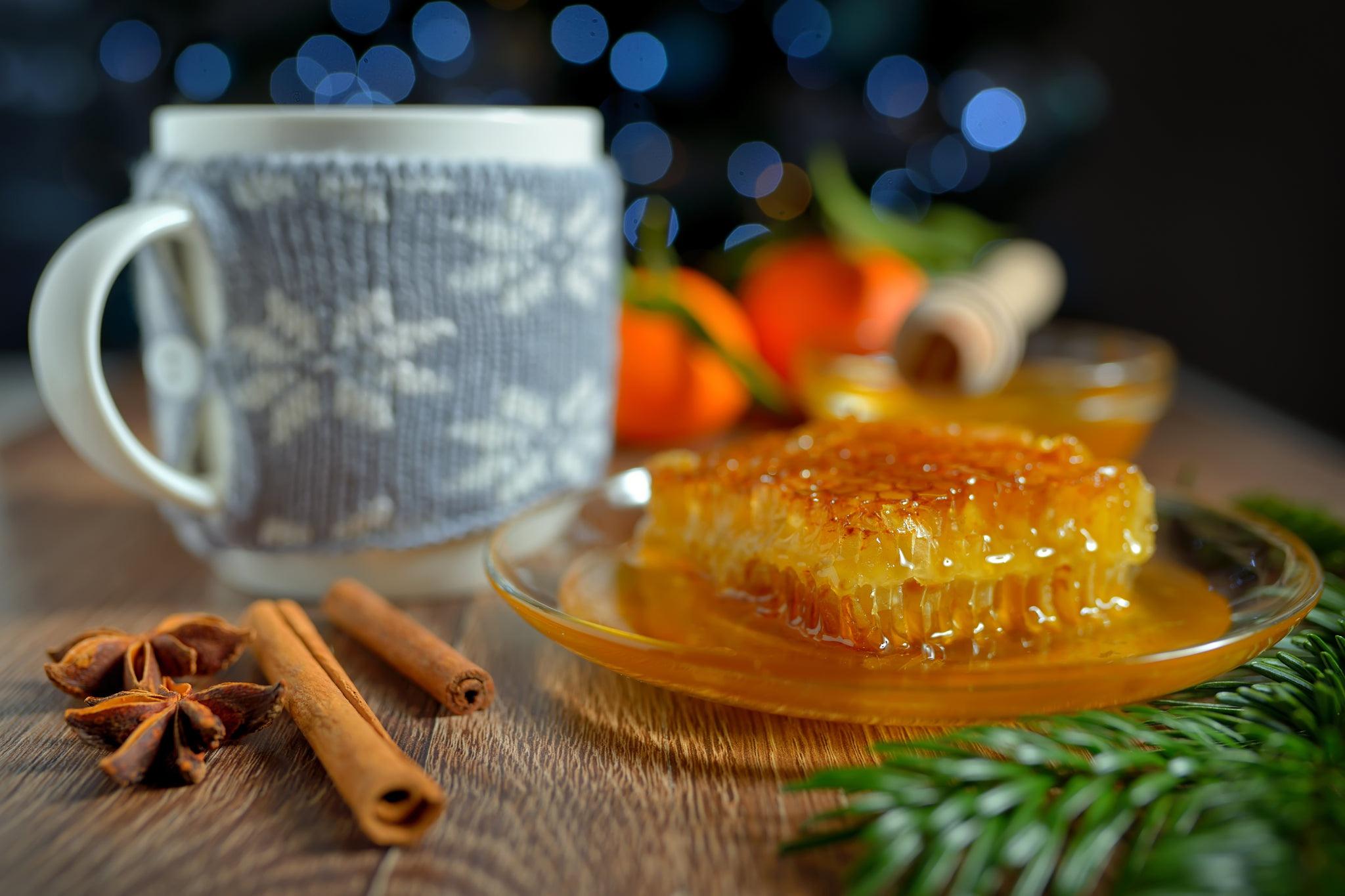 картинка кружка чая и мед можно дарить