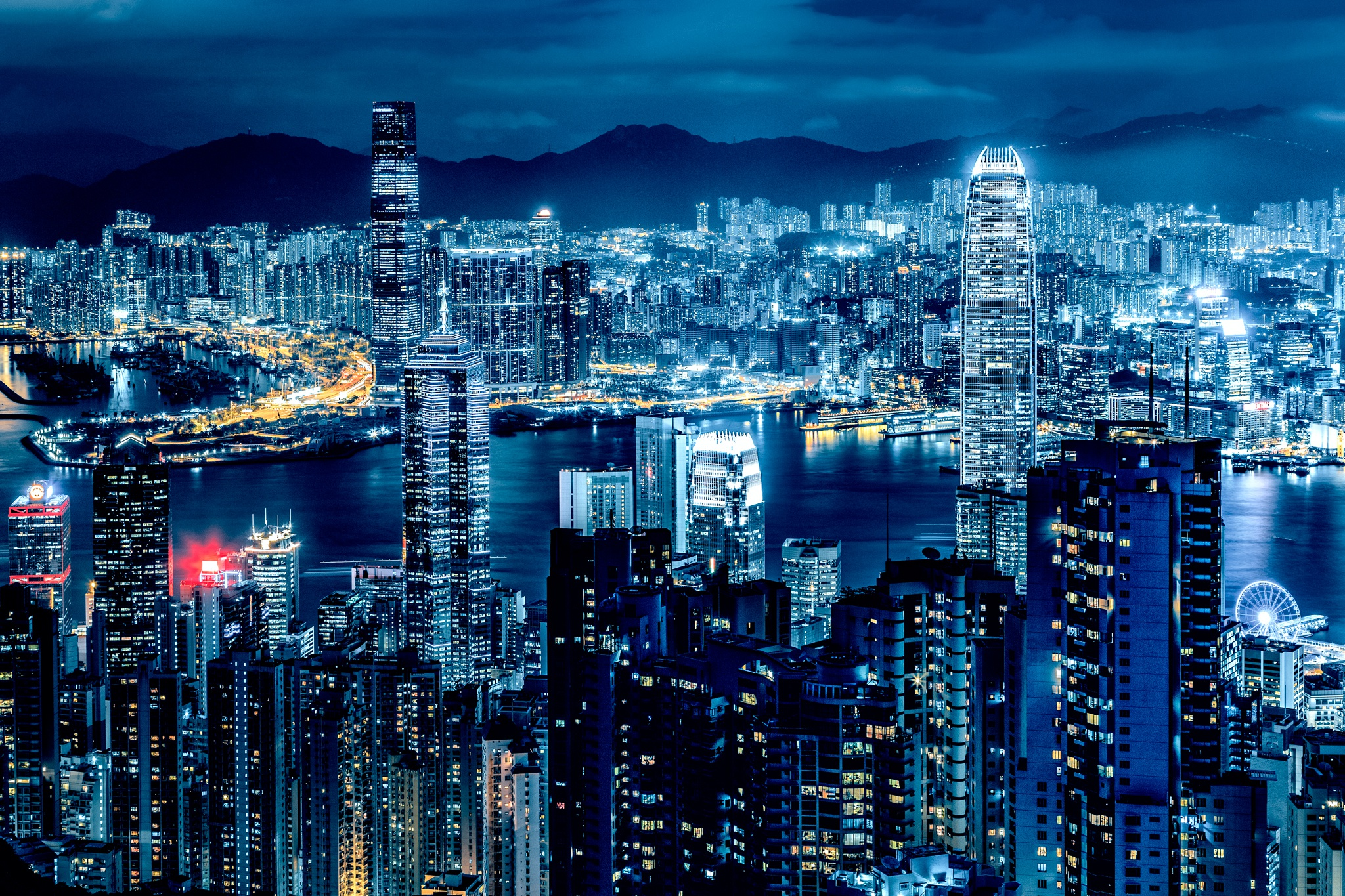 картинки ночного города на телефон площади рядом