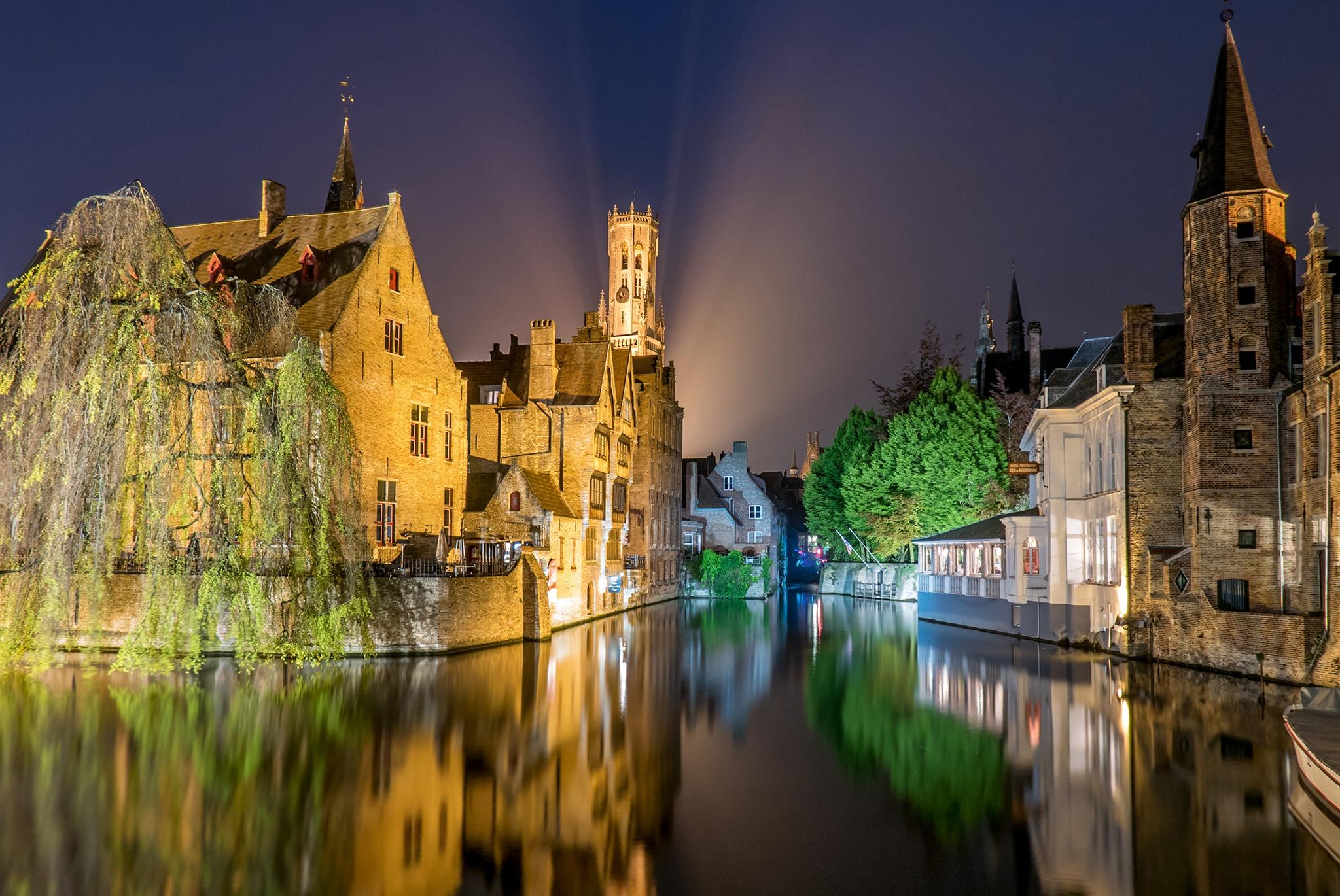 страны архитектура река Бельгия Брюгге  № 1730895  скачать