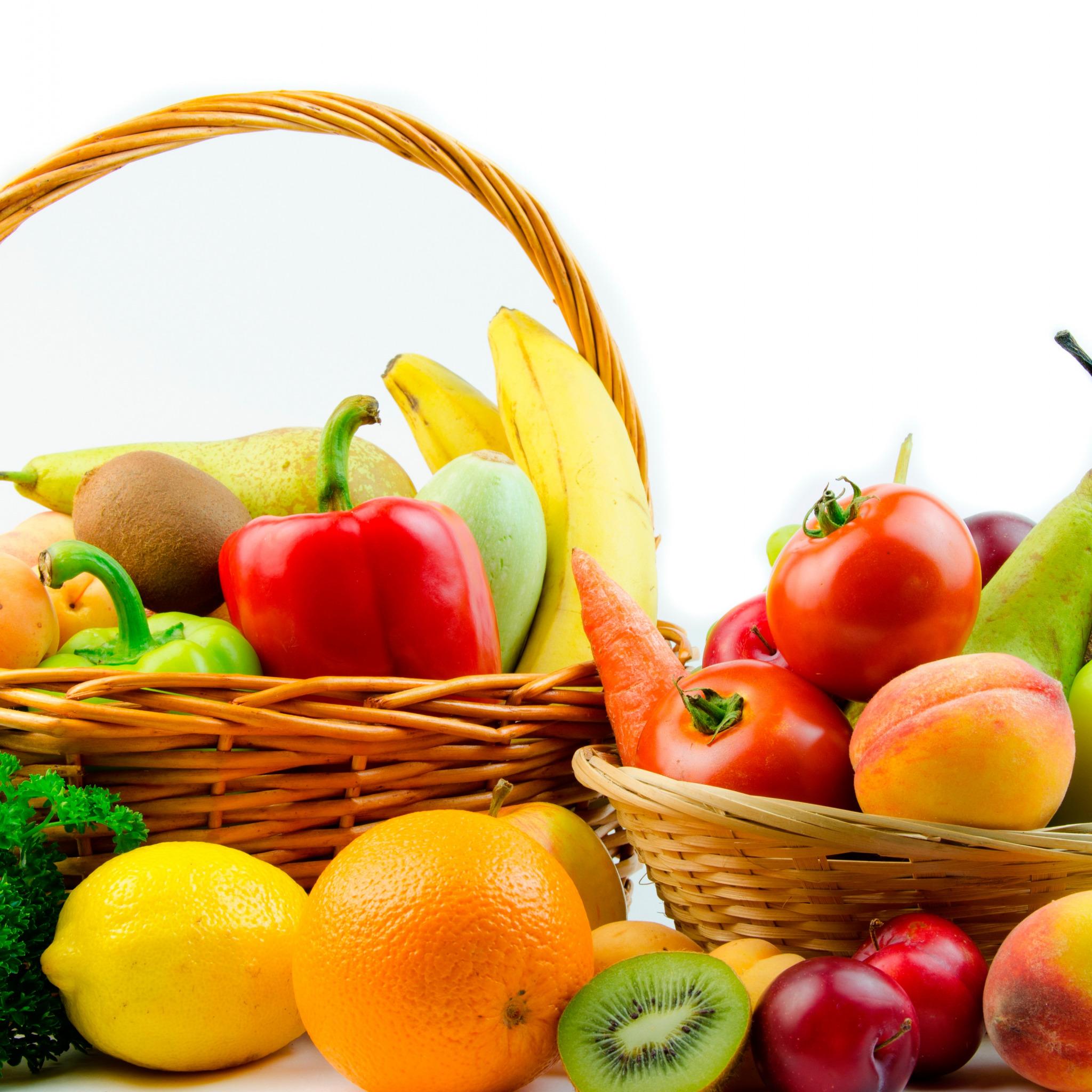 Картинки фрукты овощи на белом фоне