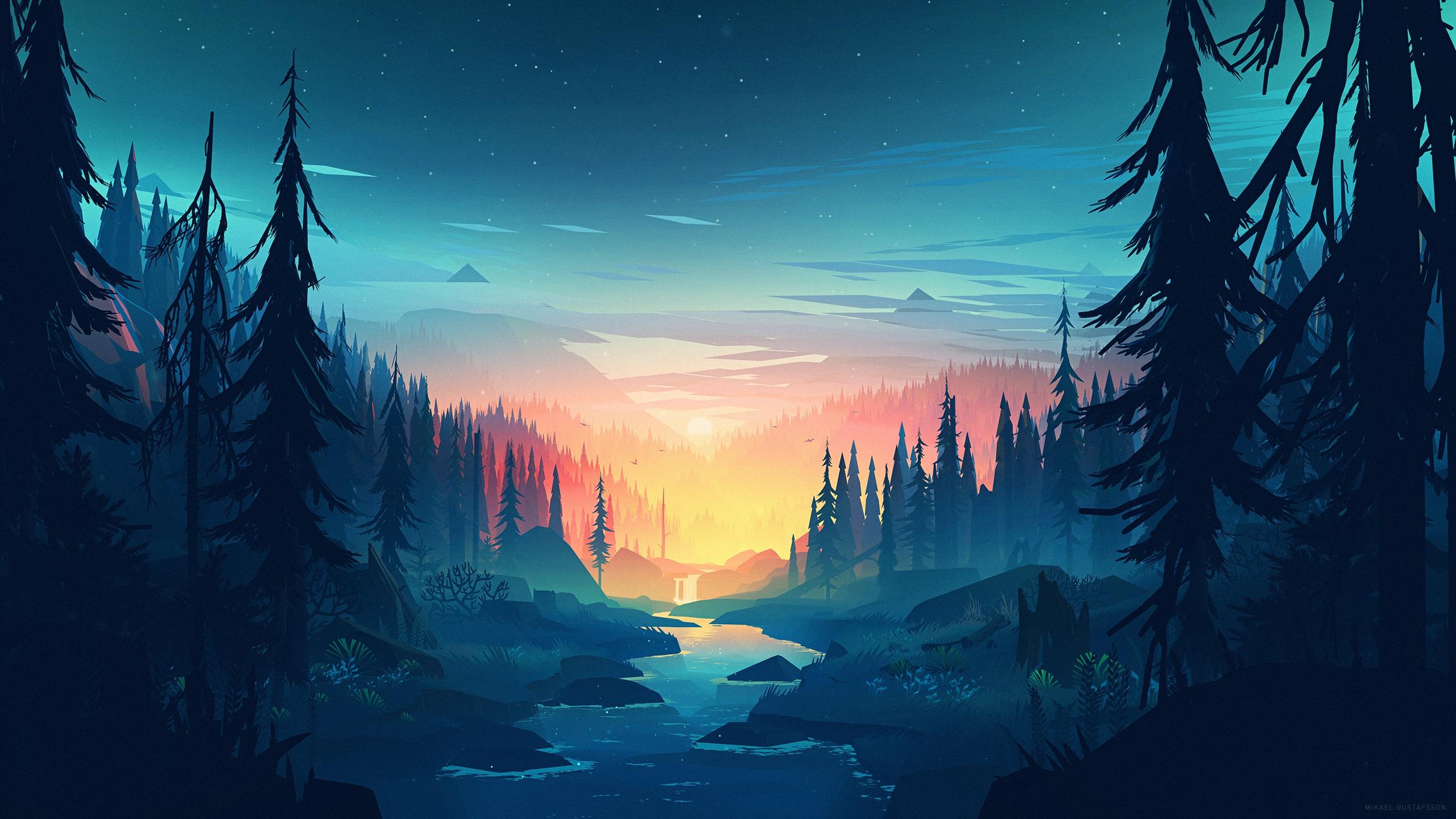 Фон игровые горы